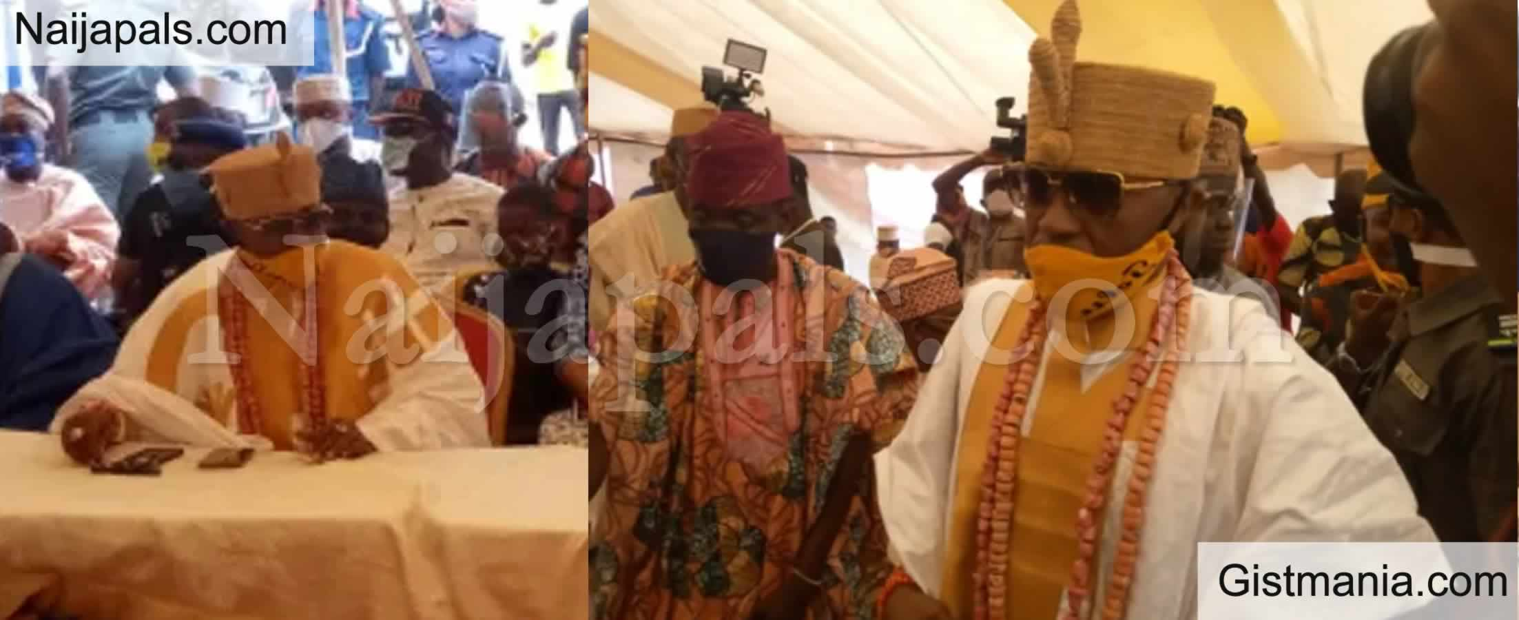 <img alt='.' class='lazyload' data-src='https://img.gistmania.com/emot/comment.gif' /> <b>Oluwo Of Iwo, Oba Akanbi in Deep Mess As 13 Kingmakers Sign Petition For His Removal</b>