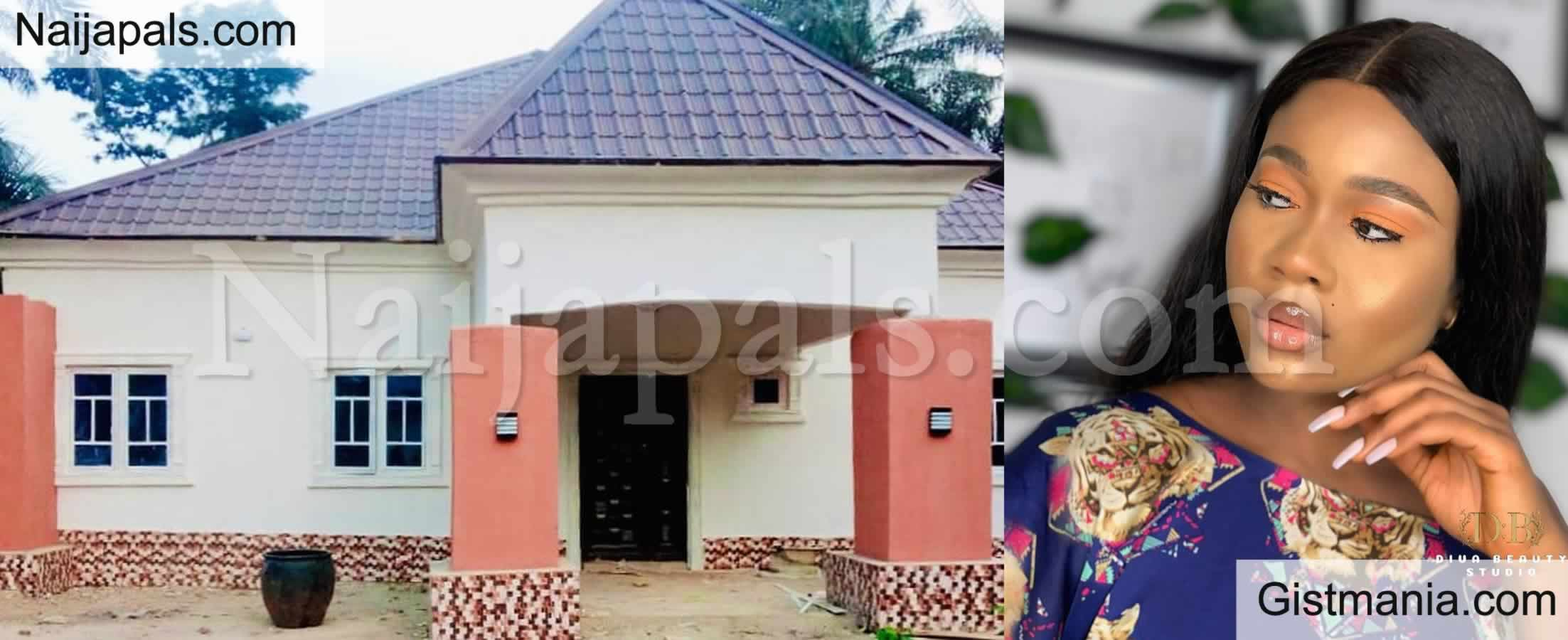 <img alt='.' class='lazyload' data-src='https://img.gistmania.com/emot/photo.png' /> Nollywood Actress, <b>Peace Onuoha Builds Her First House, Dedicates It To Her Late Father</b> (Photo)