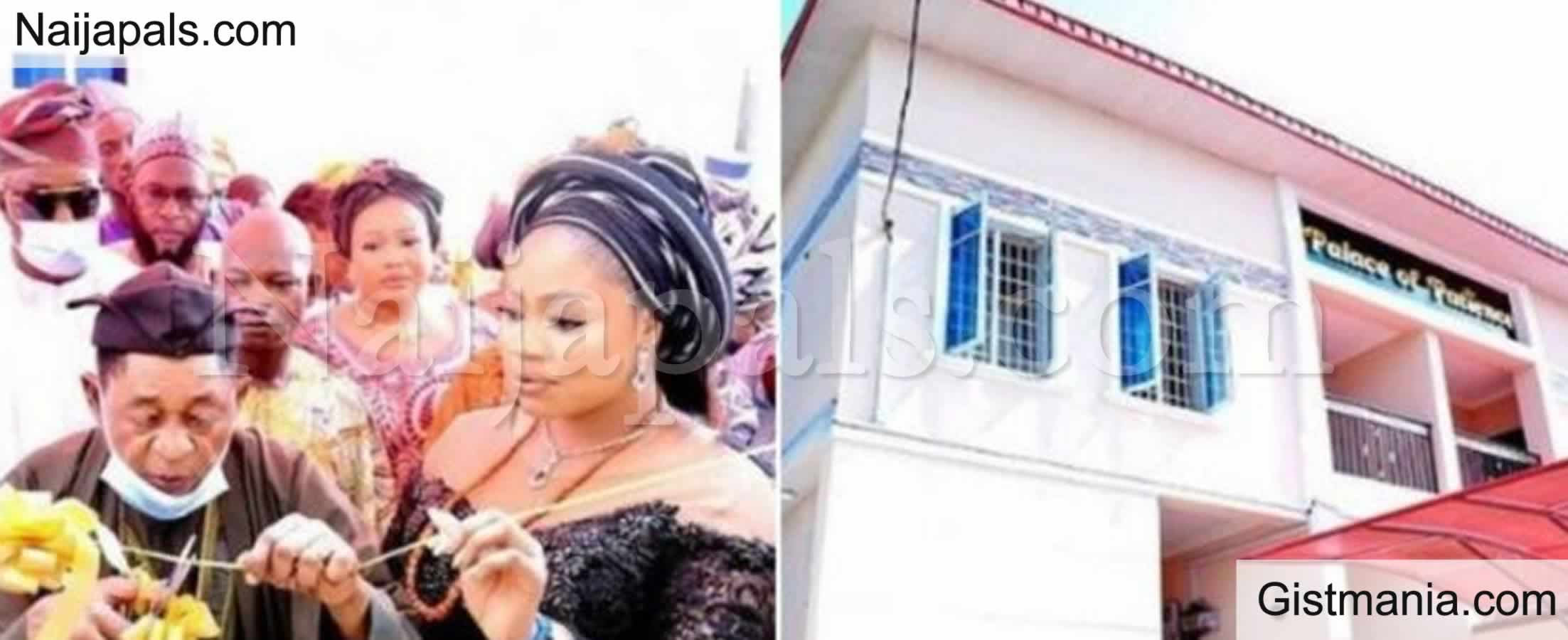 <img alt='.' class='lazyload' data-src='https://img.gistmania.com/emot/love.gif' /><b>Queen Omowumi Delighted As Alaafin of Oyo Gifts Her A New House</b>