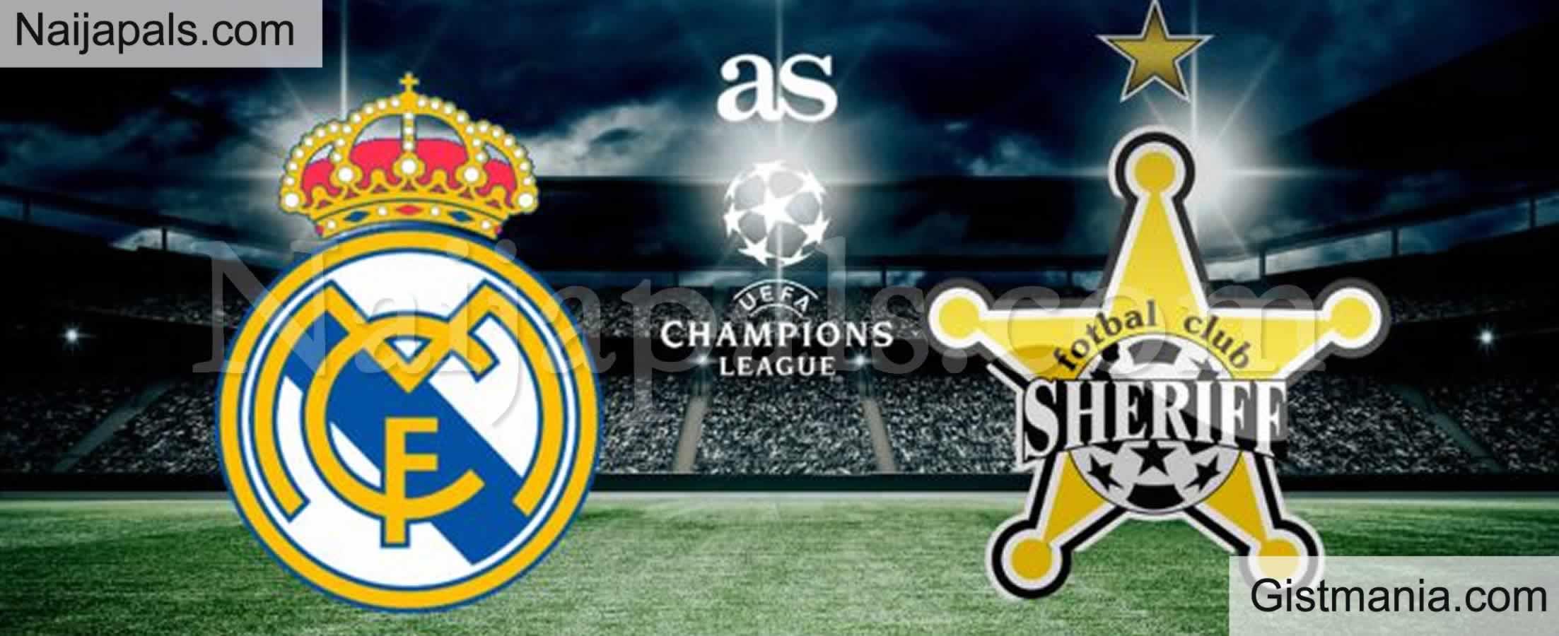 <img alt='.' class='lazyload' data-src='https://img.gistmania.com/emot/soccer.gif' /> <b>Real Madrid v FC Sheriff : UEFA Champion's League Match, Team News, Goal Scorers and Stats</b>