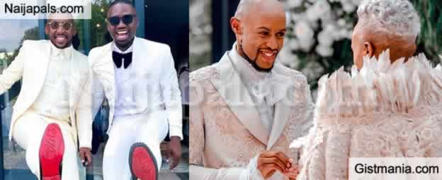 Popular South African Gay Couple Somizi Mhlongo And Mohale Motaung Hold White Wedding Gistmania