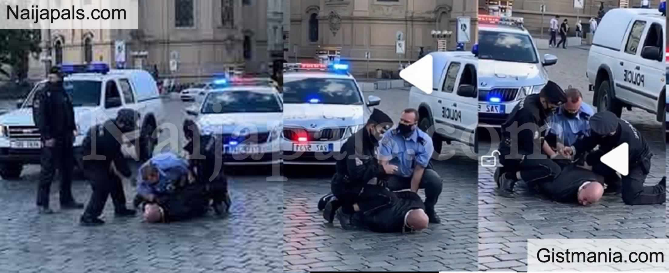 <img alt='.' class='lazyload' data-src='https://img.gistmania.com/emot/video.gif' /> <b>Watch Moment A Thug Was Arrested As He Tried To Disrupt The #EndSARS Protest In Czech Republic</b> (VIDEO)