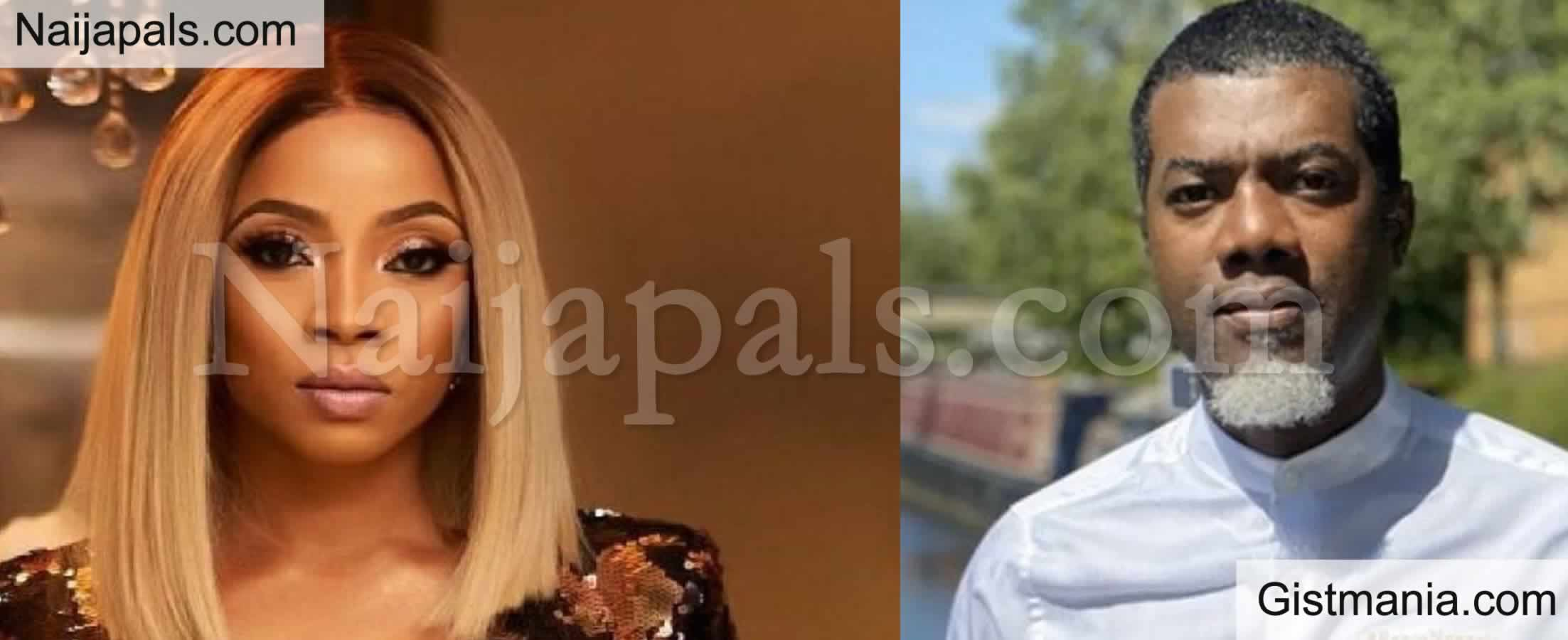 <img alt='.' class='lazyload' data-src='https://img.gistmania.com/emot/comment.gif' /> <b>Reno Omokri Stylishly Shades Toke Makinwa in His Post About Bleaching & Cosmetic Surgery</b>