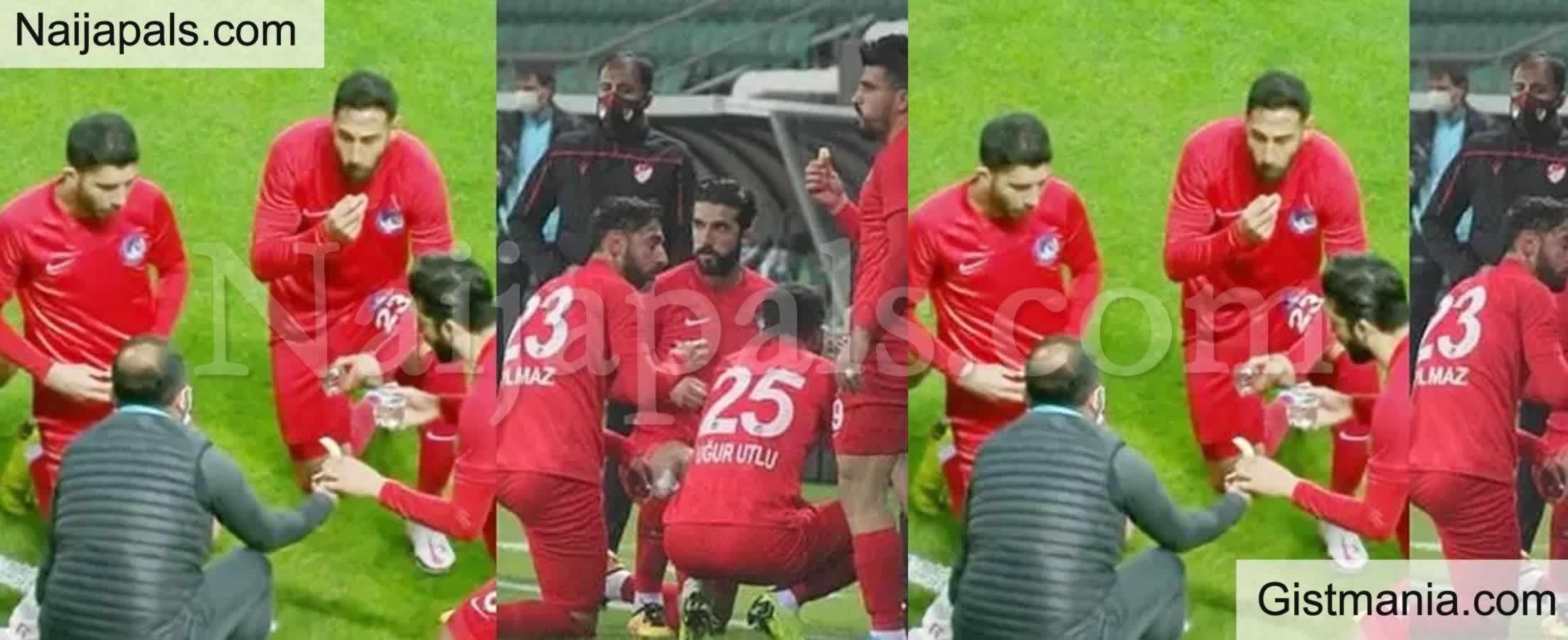 <img alt='.' class='lazyload' data-src='https://img.gistmania.com/emot/soccer.gif' /><img alt='.' class='lazyload' data-src='https://img.gistmania.com/emot/news.gif' /> <b>Players Break Their Ramadan Fast During a Football Match In Turkey</b> (Video)