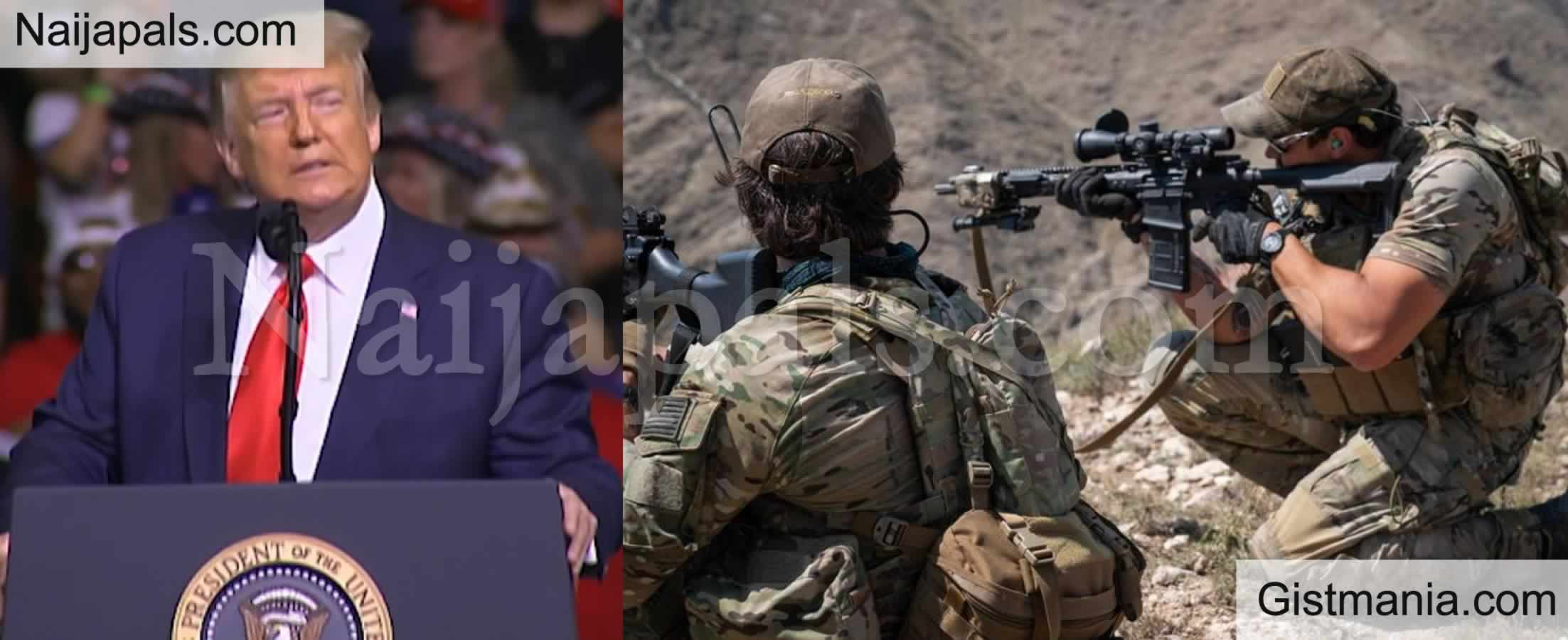 <img alt='.' class='lazyload' data-src='https://img.gistmania.com/emot/comment.gif' /> US President,<b> Donald Trump Praises 'Elite US Special Forces' After Rescuing Kidnapped American Citizen In Nigeria</b>