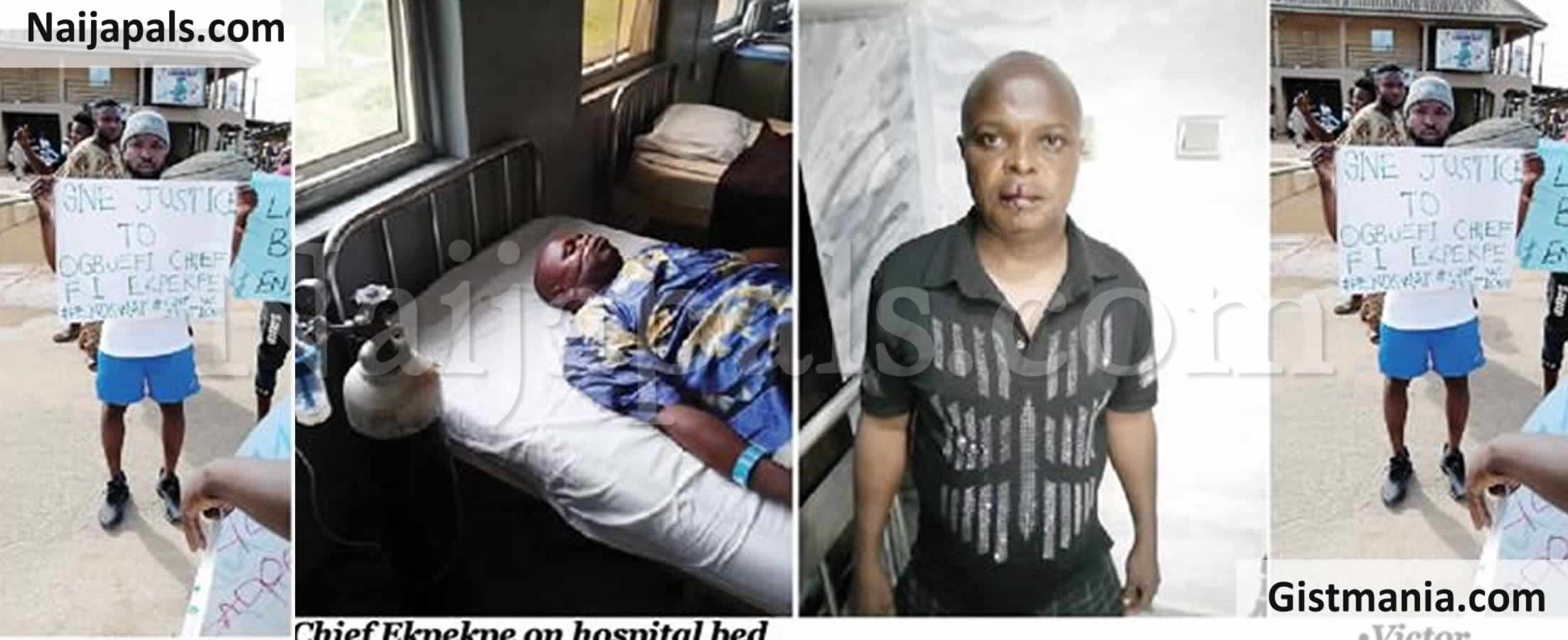 <img alt='.' class='lazyload' data-src='https://img.gistmania.com/emot/smh.gif' /> <b>Entertainer, Victor Ekpekpe Narrates How Police Assaulted His Father And Hit Him With Riffle</b>