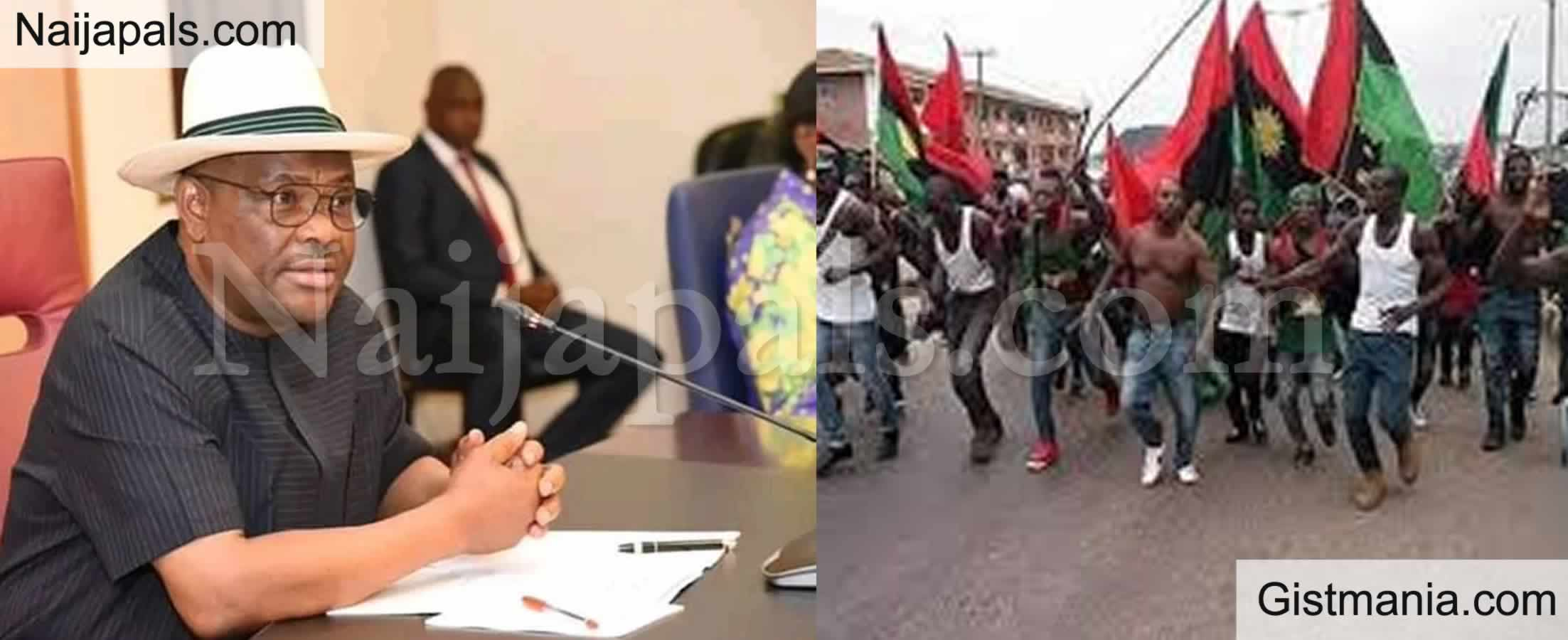 <img alt='.' class='lazyload' data-src='https://img.gistmania.com/emot/news.gif' /> <b>Governor Wike Signs Executive Order Proscribing IPOB In Rivers State, Says It's Terrorist Group</b>