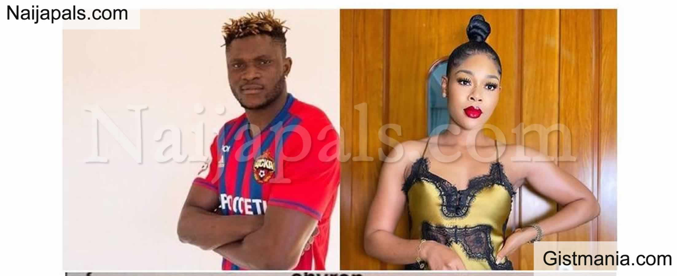 <img alt='.' class='lazyload' data-src='https://img.gistmania.com/emot/broken_heart.gif' /> <b>Nigerian Footballer, Samuel Aaron and wife, Chinwe Reportedly Split</b>