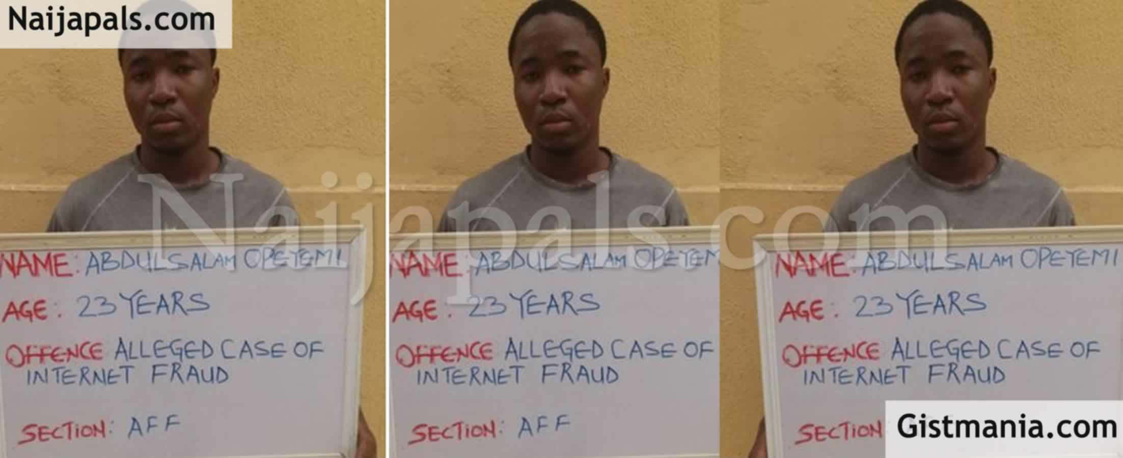 <img alt='.' class='lazyload' data-src='https://img.gistmania.com/emot/news.gif' /> <b>Face Of Undergraduate Who Bagged 1 Year In Jail For Impersonating US Military Officer</b>