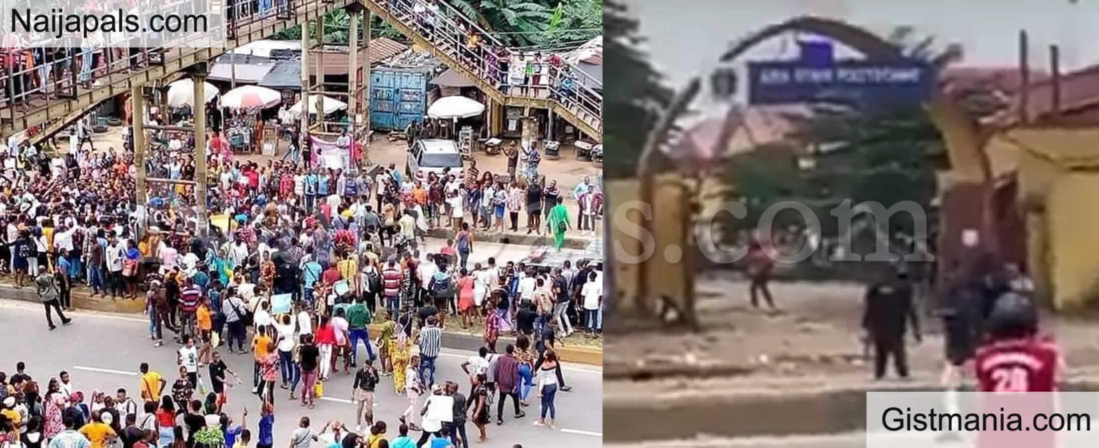 <img alt='.' class='lazyload' data-src='https://img.gistmania.com/emot/video.gif' /> Just In:<b> Nigeria Police Shoot At Students Protesting Against Gang-r*pe Of 18-Year-Old Colleague</b>