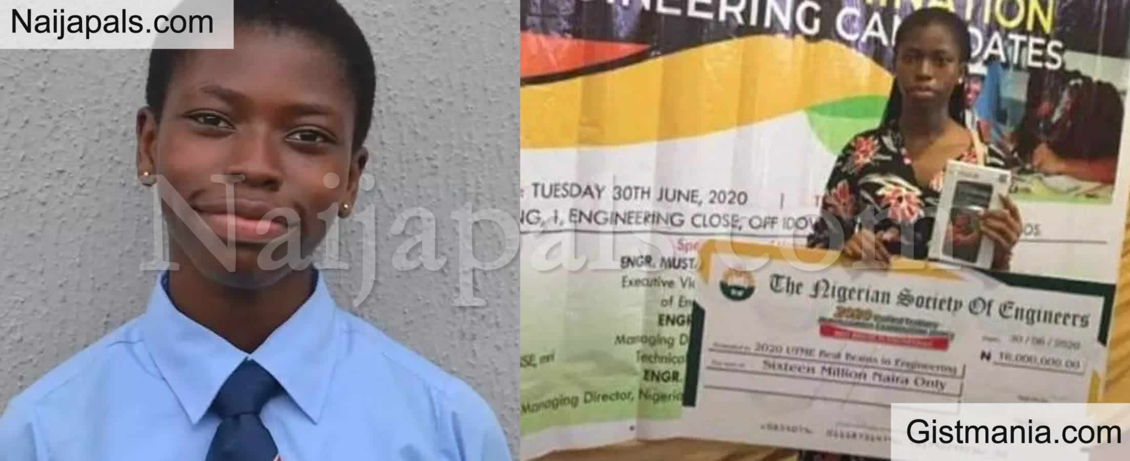 <img alt='.' class='lazyload' data-src='https://img.gistmania.com/emot/thumbs_up.gif' /> <b>Agnes Maduafokwa, The Student With The Highest JAMB Score Gets N16million</b>