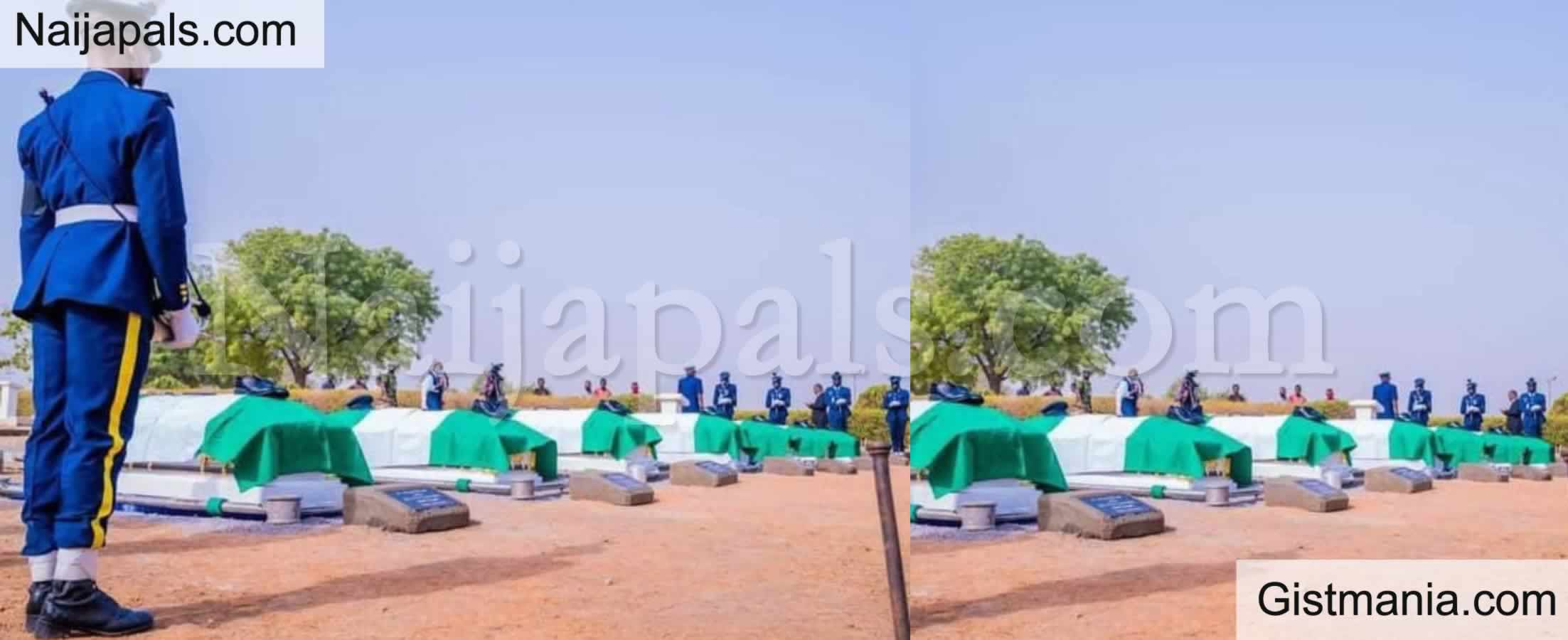 <img alt='.' class='lazyload' data-src='https://img.gistmania.com/emot/comment.gif' /> <b>Nigerian Air Force Buries Officers Involved In Plane Crash</b>