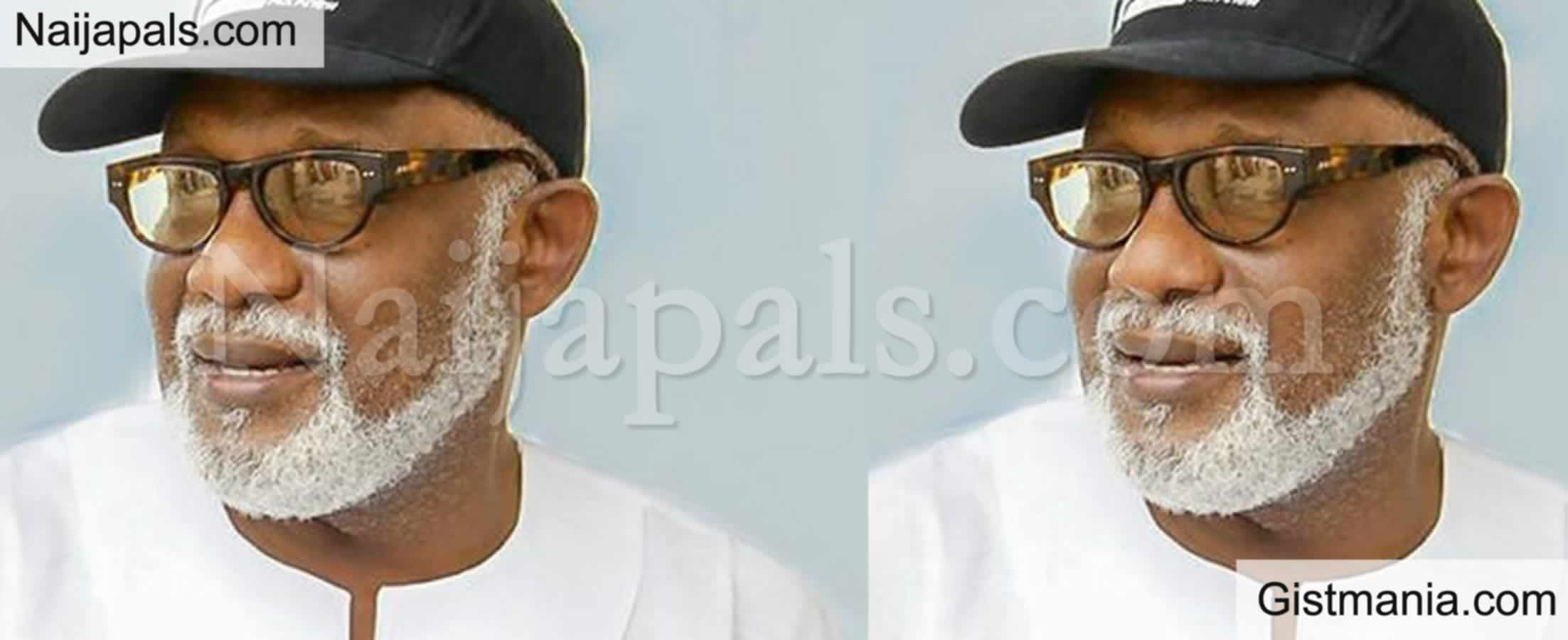 <img alt='.' class='lazyload' data-src='https://img.gistmania.com/emot/news.gif' /> Just In! <b>Akeredolu Sworn-In As Governor For Second Term</b>, Takes Oath Of Office