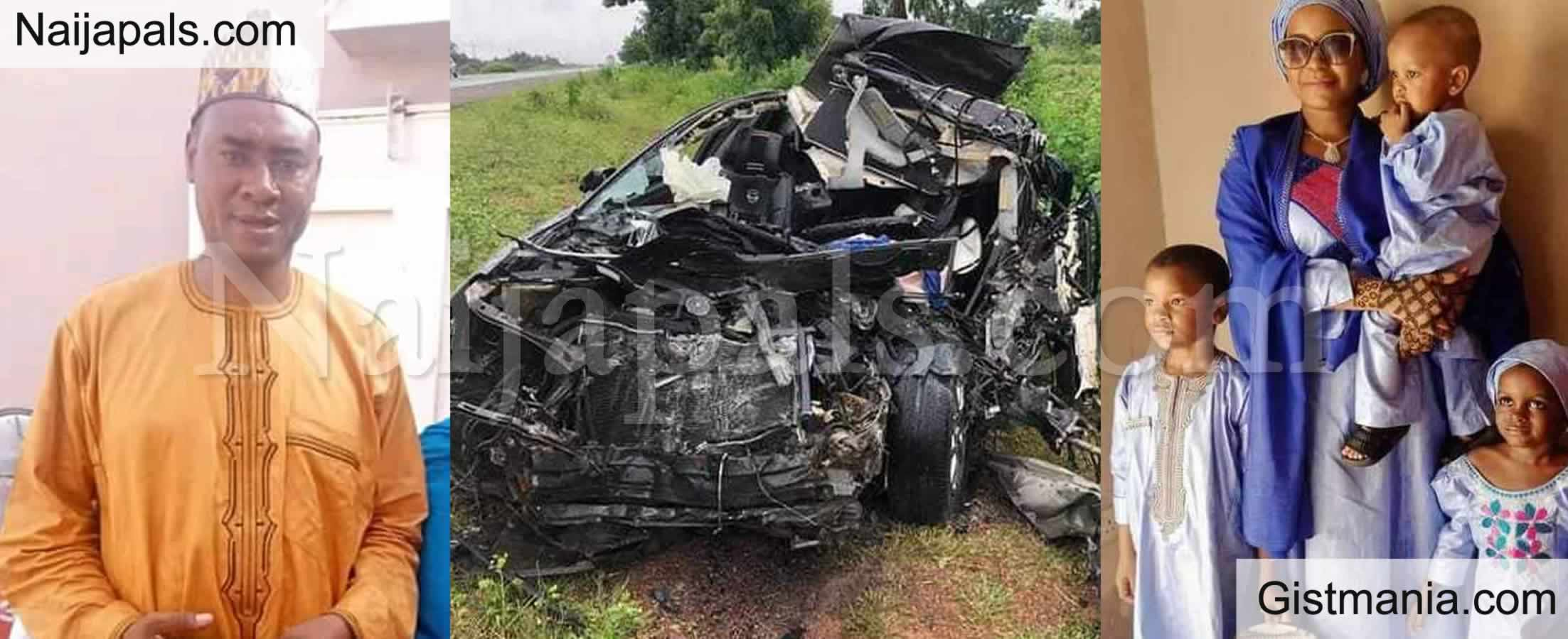 <img alt='.' class='lazyload' data-src='https://img.gistmania.com/emot/cry.gif' /> FCT Rep. <b>Hon. Aliyu's P.A, His Wife & 3 Children Crushed Beyond Recognition in Fatal Car Crash</b> (Photos)