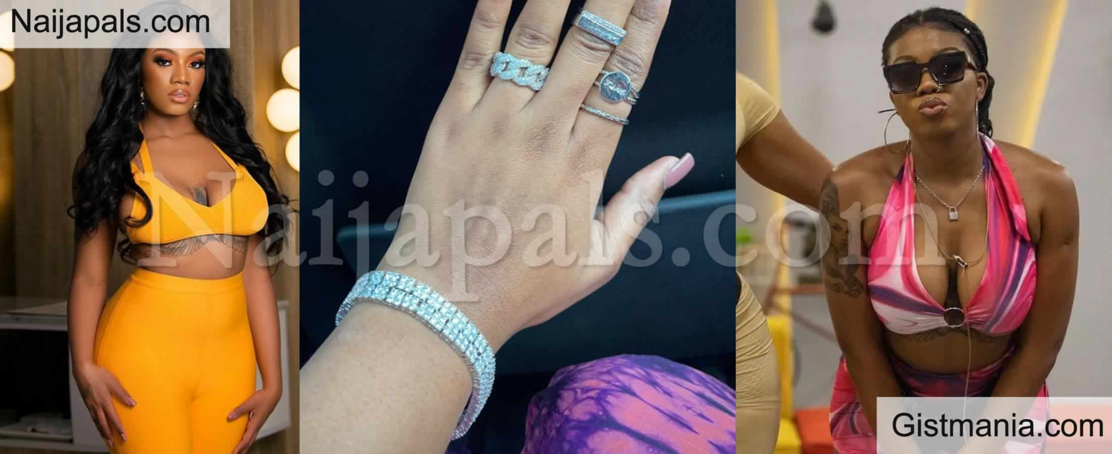 <img alt='.' class='lazyload' data-src='https://img.gistmania.com/emot/love.gif' /> Photo: <b>Check Out BBNaija's Angel's Lover As She Flaunts Her Engagement Ring</b>