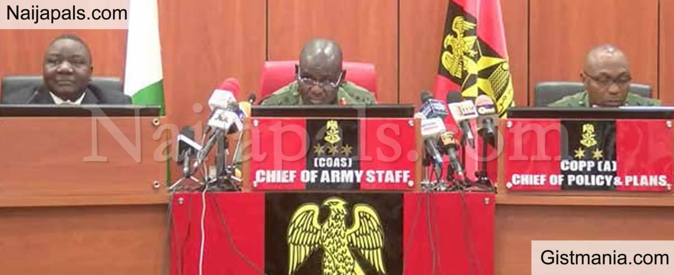 <img alt='.' class='lazyload' data-src='https://img.gistmania.com/emot/comment.gif' /> <b>Nigerian Army Dismisses Female Soldier For Getting Pregnant After She Was Rαped By 5 Bandits</b>