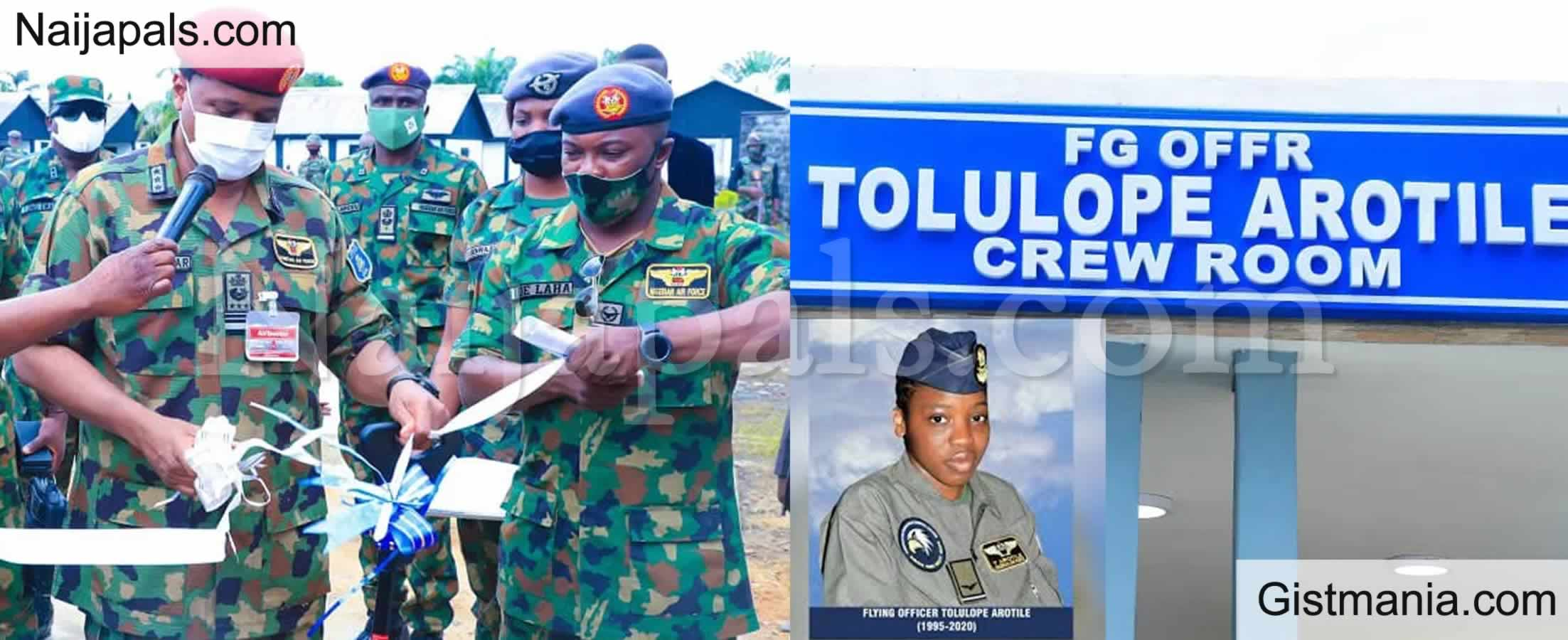 <img alt='.' class='lazyload' data-src='https://img.gistmania.com/emot/photo.png' /> PHOTOS: <b>Nigerian Airforce Immortalizes Late Female Combat Pilot Tolulope Arotile</b>