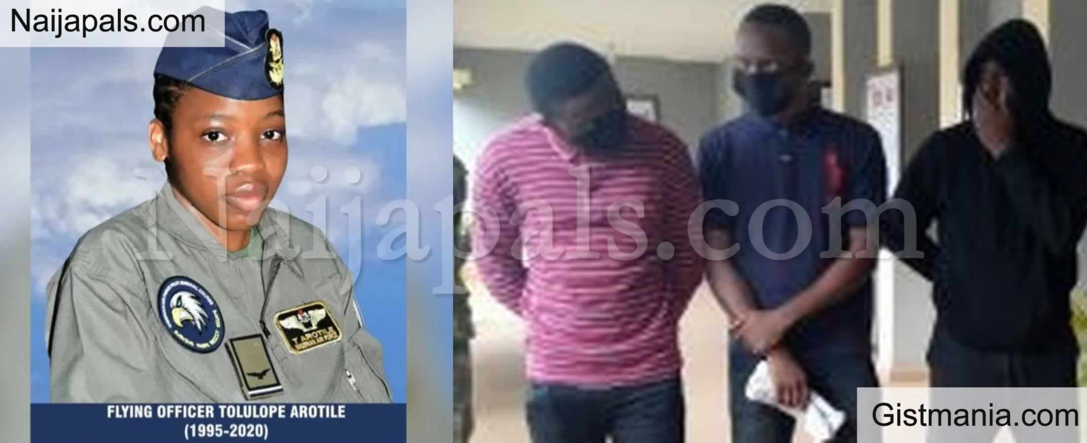 <img alt='.' class='lazyload' data-src='https://img.gistmania.com/emot/comment.gif' /> <b>Police Arraigns Driver, Owner Of Vehicle That Killed Flying Officer Tolulope Arotile</b>