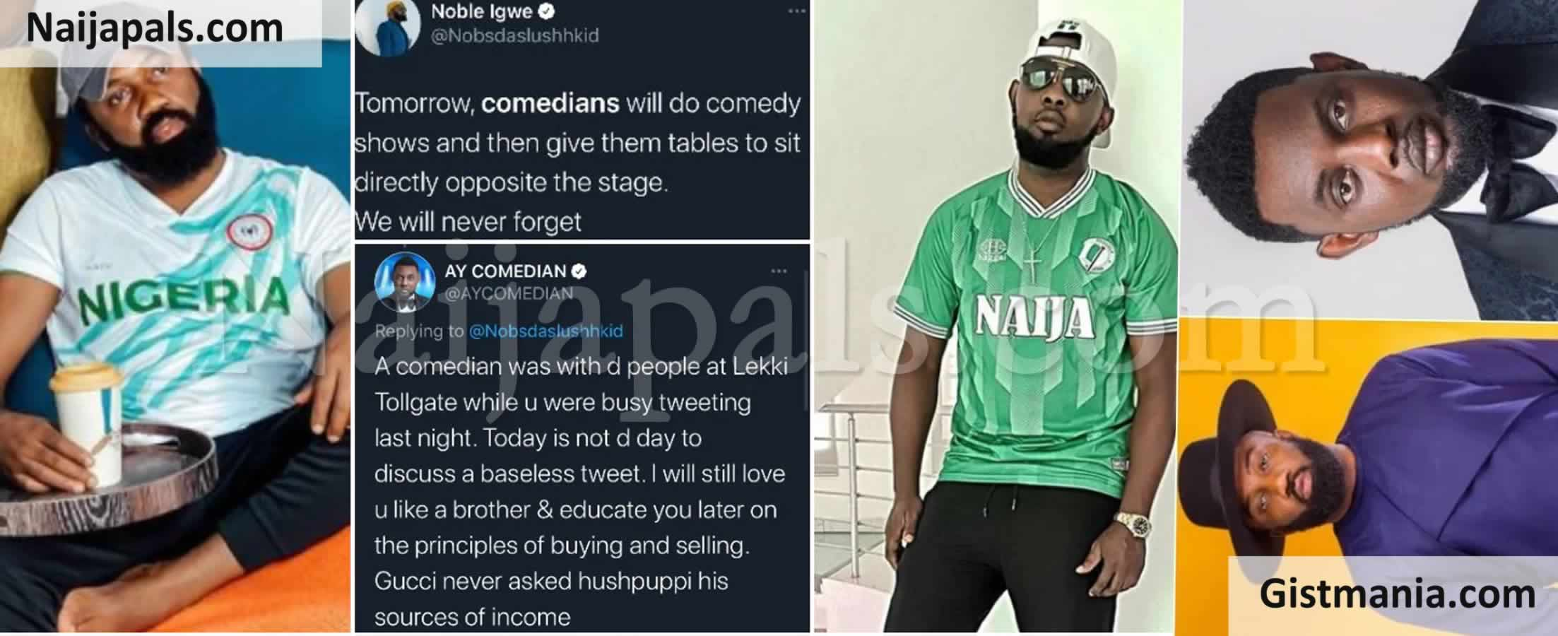 <img alt='.' class='lazyload' data-src='https://img.gistmania.com/emot/comment.gif' /> <b>Noble Igwe, AY Makun Clash On Social Media Over Comedians Who Invite Politicians To Their Shows</b>