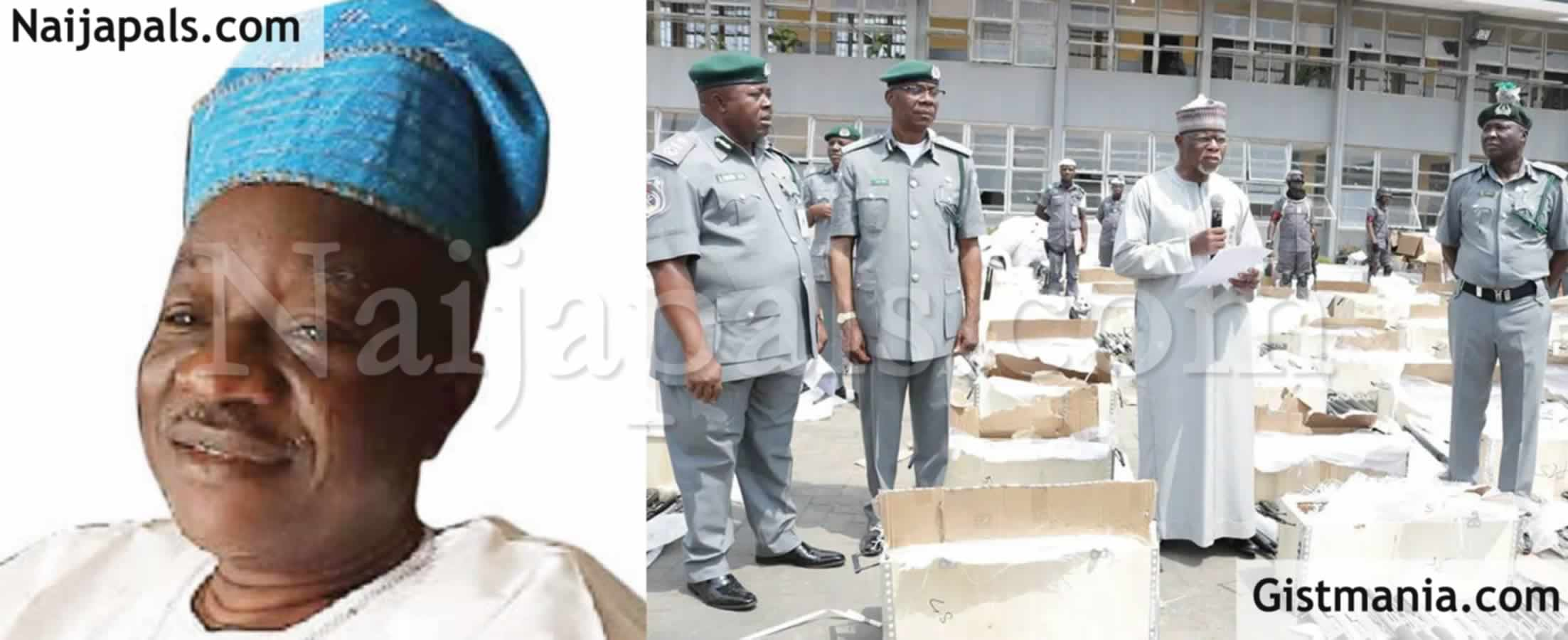 "<img alt='.' class='lazyload' data-src='https://img.gistmania.com/emot/big_laugh.gif' /> <b>""Customs Officers May Soon Begin To Raid Kitchens To Seize Foreign Rice""</b> -Babaloja Of Oyo State"