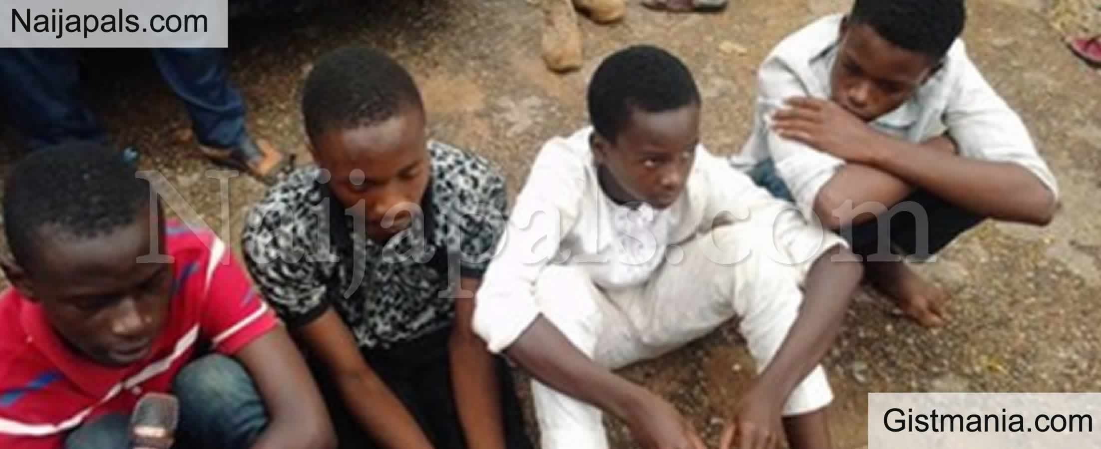 <img alt='.' class='lazyload' data-src='https://img.gistmania.com/emot/smh.gif' /> <b>Faces Of Teenagers Involved in The Kidnap Of Their Neighbor's 6yr Old Son For N2.6m Ransom</b>