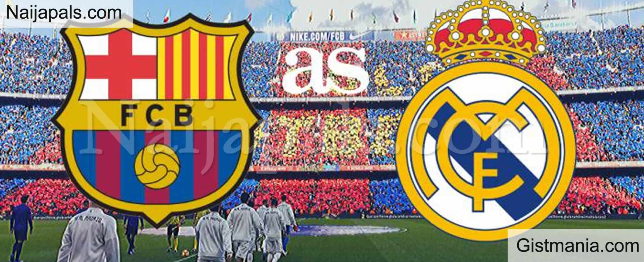 <img alt='.' class='lazyload' data-src='https://img.gistmania.com/emot/soccer.gif' /> <b>Barcelona vs Real Madrid : Spanish La Liga, El Clasico Match, Team News, Goal Scorers and Stats</b>
