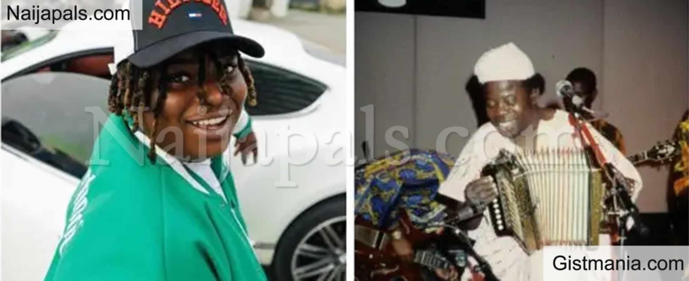 <img alt='.' class='lazyload' data-src='https://img.gistmania.com/emot/comment.gif' /> <b>Nigerian Singer, Barry Jhay Reveals Late IK Dairo Was His Grandfather</b>