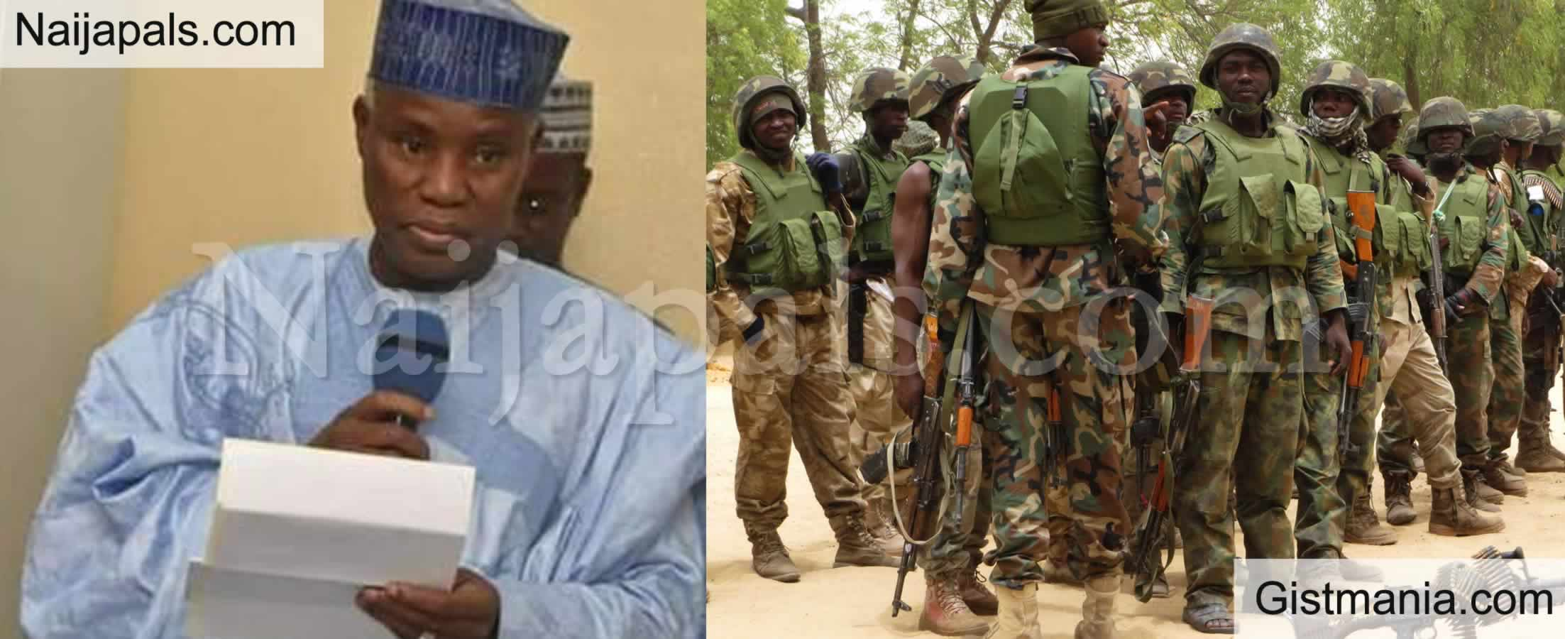 <img alt='.' class='lazyload' data-src='https://img.gistmania.com/emot/comment.gif' /> <b>Don't Be Afraid of Bullets</b> — Defence Minister, Bashir Magashi Tells Troops