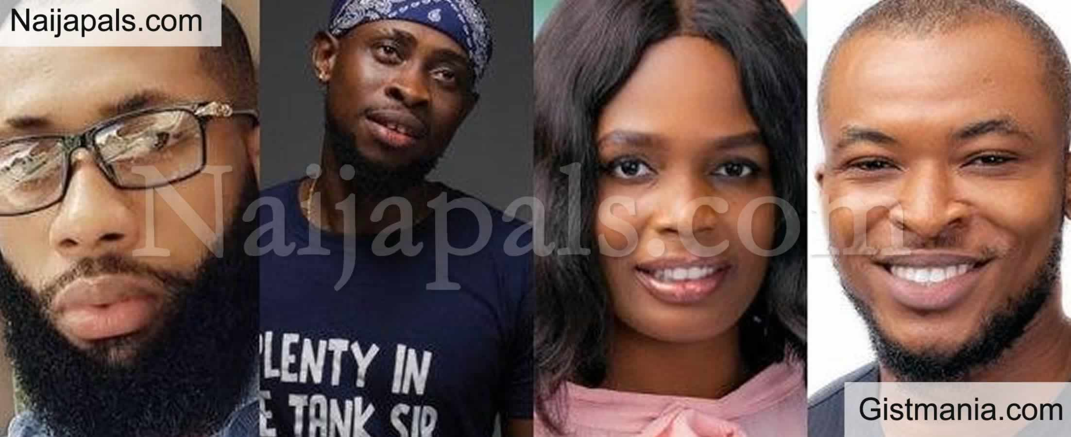 <img alt='.' class='lazyload' data-src='https://img.gistmania.com/emot/comment.gif' /> BBNaija2020! <b>Trickytee, Kaisha, Eric, Tochi Nominated For Eviction From The BBNaija Reality TV</b>