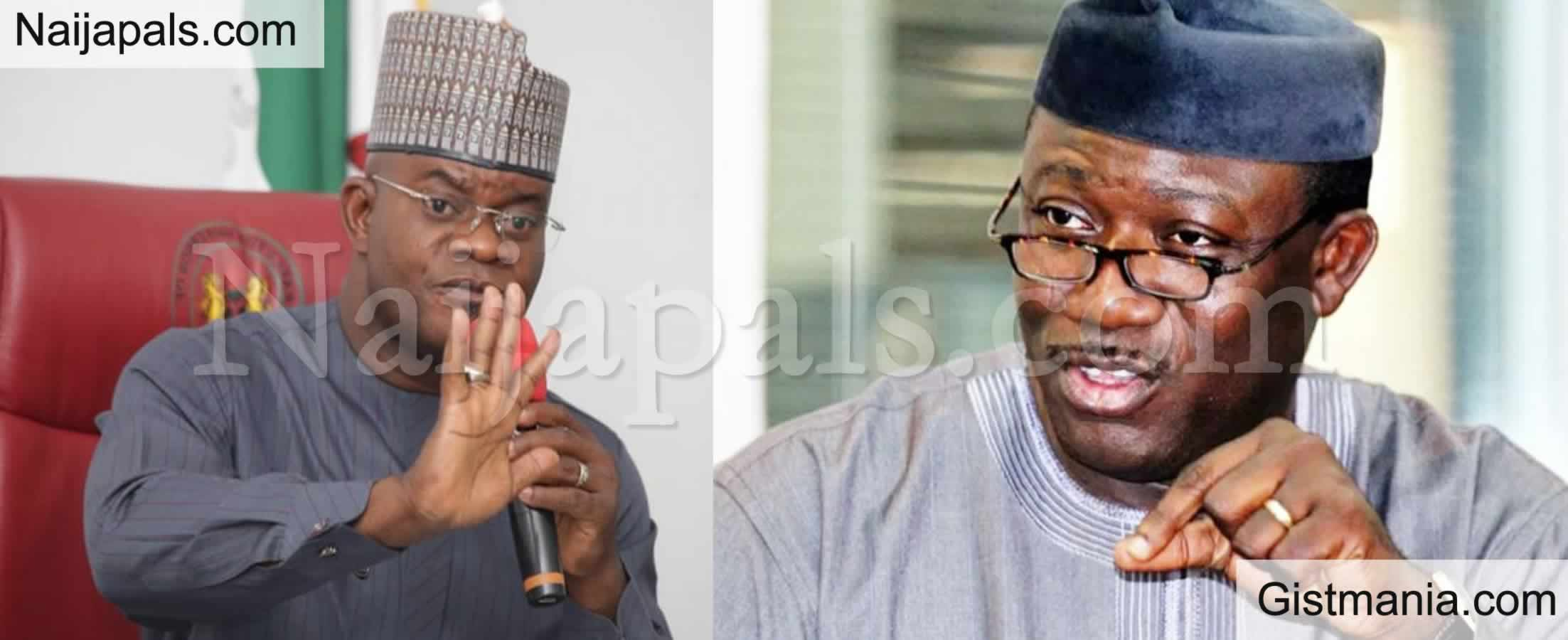 <img alt='.' class='lazyload' data-src='https://img.gistmania.com/emot/comment.gif' /> <b>Watch What You Say – Fayemi Cautions Gov Yahaya Bello On COVID-19 Vaccines</b>