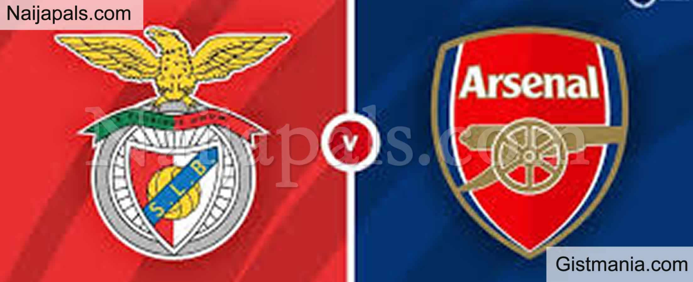 <img alt='.' class='lazyload' data-src='https://img.gistmania.com/emot/soccer.gif' /> <b>Arsenal v Benfica : UEFA Europa League Match, Team News, Goal Scorers and Stats</b>