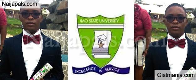 Ekenze Chigozie, Best Graduating Student, IMSU Shares His Ordeal To