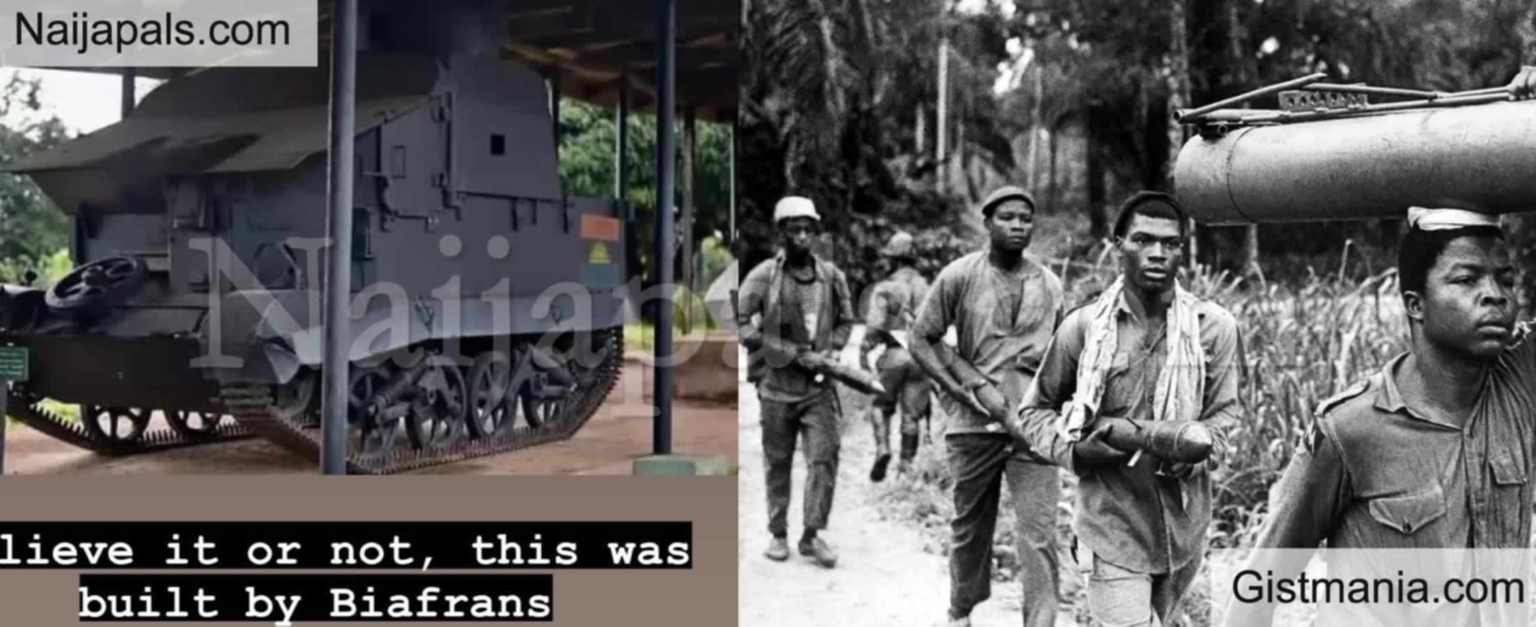 <img alt='.' class='lazyload' data-src='https://img.gistmania.com/emot/photo.png' /> <b>Photo of An Amour Tank Built By BIAFRAN Fighters During The Nigerian Civil War</b>