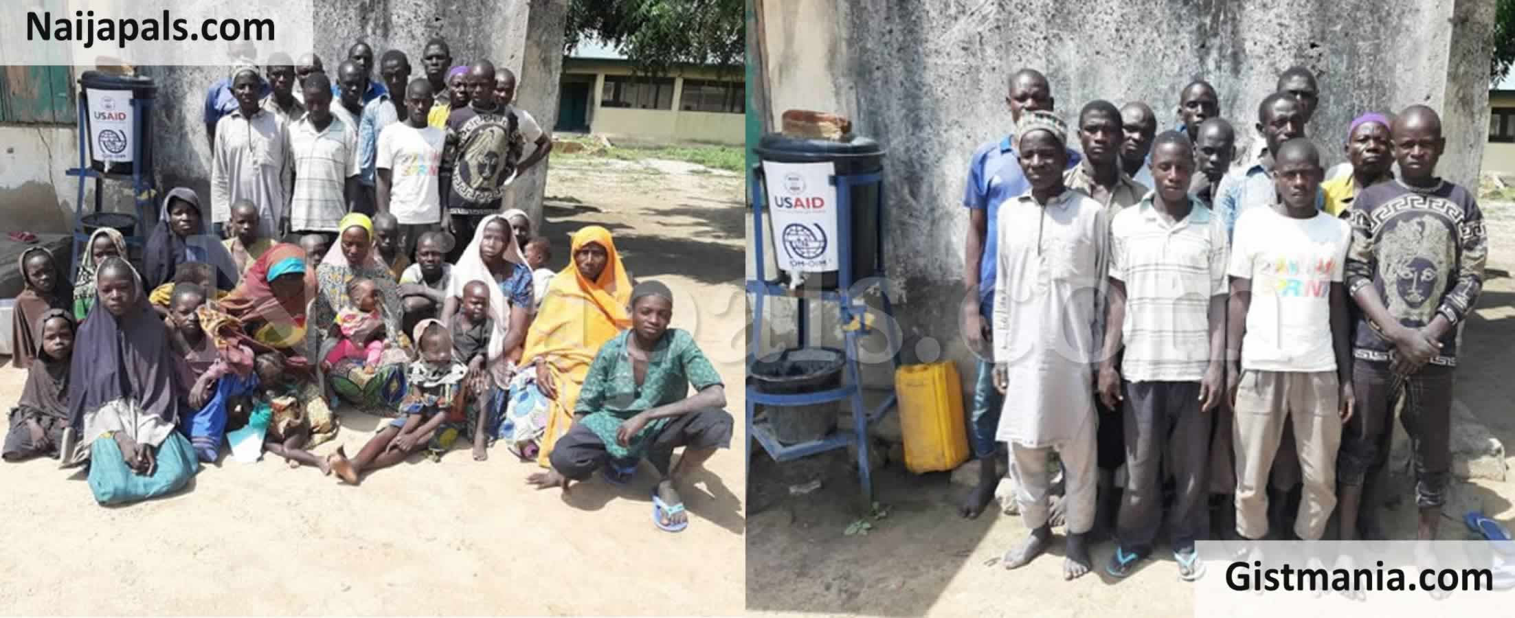 <img alt='.' class='lazyload' data-src='https://img.gistmania.com/emot/photo.png' /> <b>Photos Of 13 Suspected Boko Haram Terrorists Alongside Their Families Who Surrendered To Troops</b>