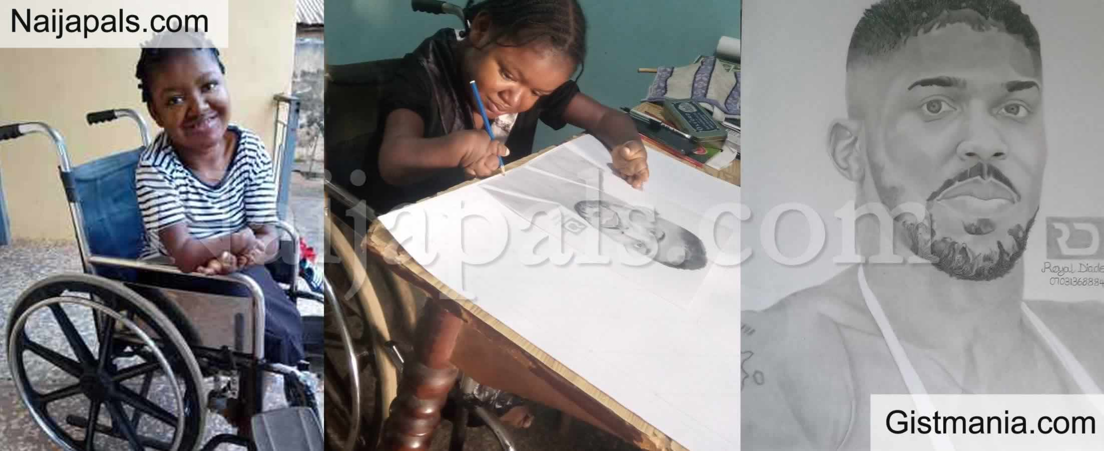 <img alt='.' class='lazyload' data-src='https://img.gistmania.com/emot/thumbs_up.gif' /> PHOTOS: <b>Young Nigerian Artiste, Bose Okeowo With Disabilities Draws Anthony Joshua's Portrait</b>