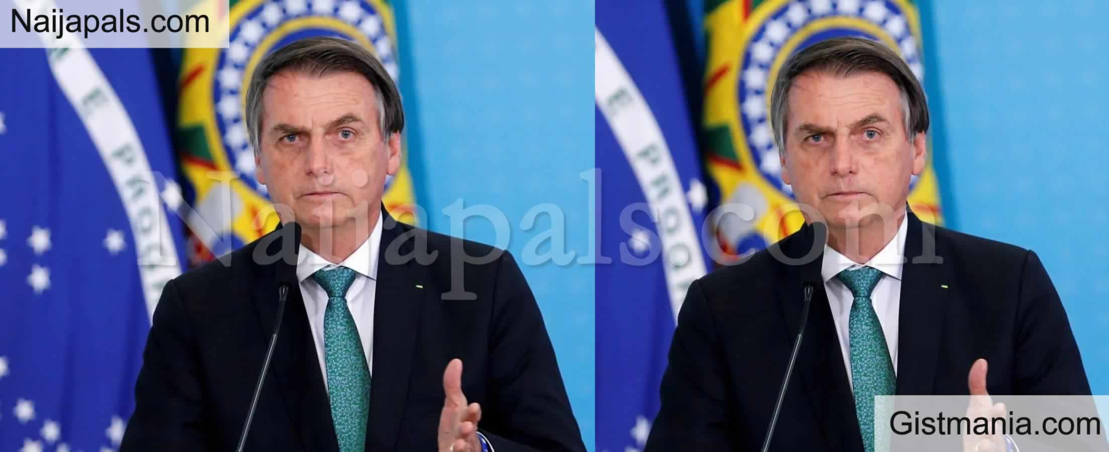 <img alt='.' class='lazyload' data-src='https://img.gistmania.com/emot/news.gif' /> COVID 19: <b>President Of Brazil, Jair Bolsonaro, Test Positive For Coronavirus</b>