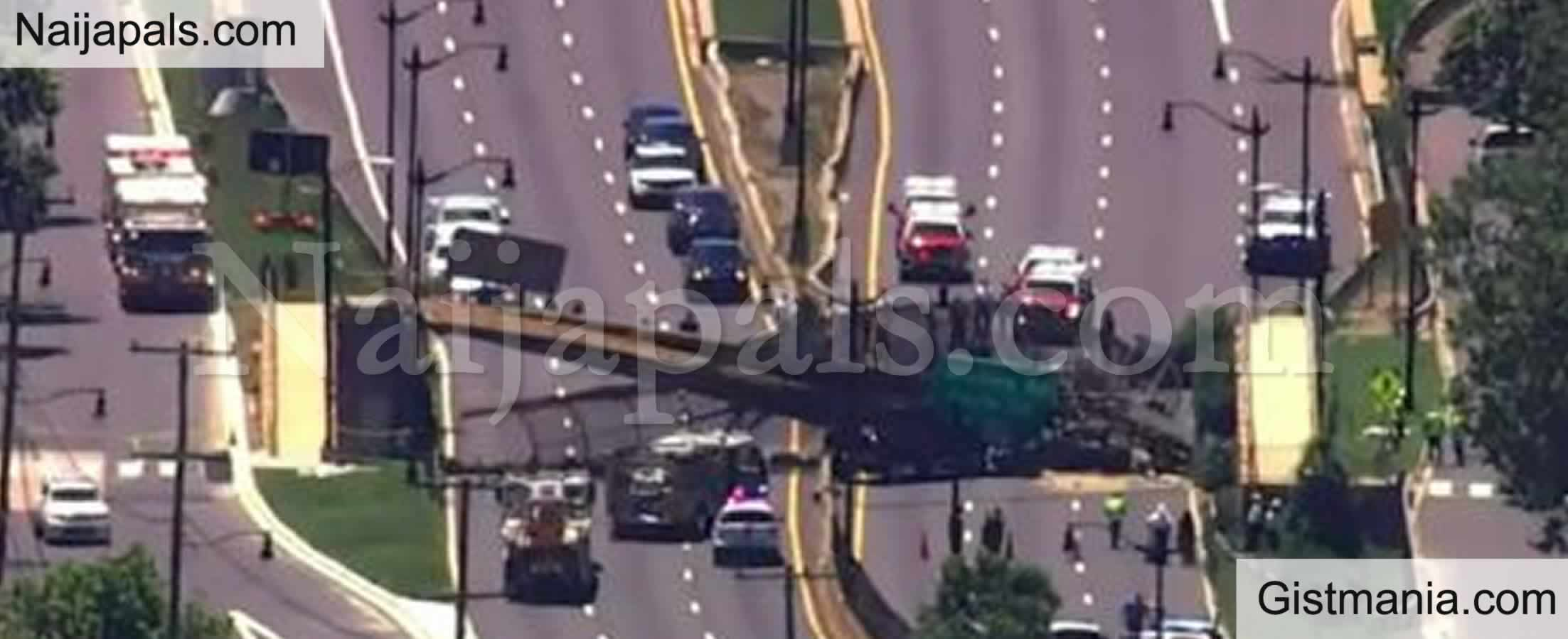 <img alt='.' class='lazyload' data-src='https://img.gistmania.com/emot/news.gif' /> <b>5 People Hospitalized After Pedestrian Bridge Collapses Onto DC Highway In US</b>