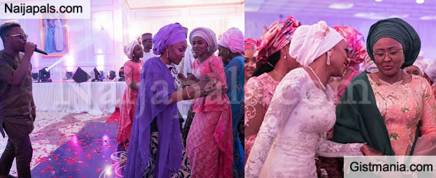 Check Out The Photos Of Buhari's Daughters Dancing At Zahra's