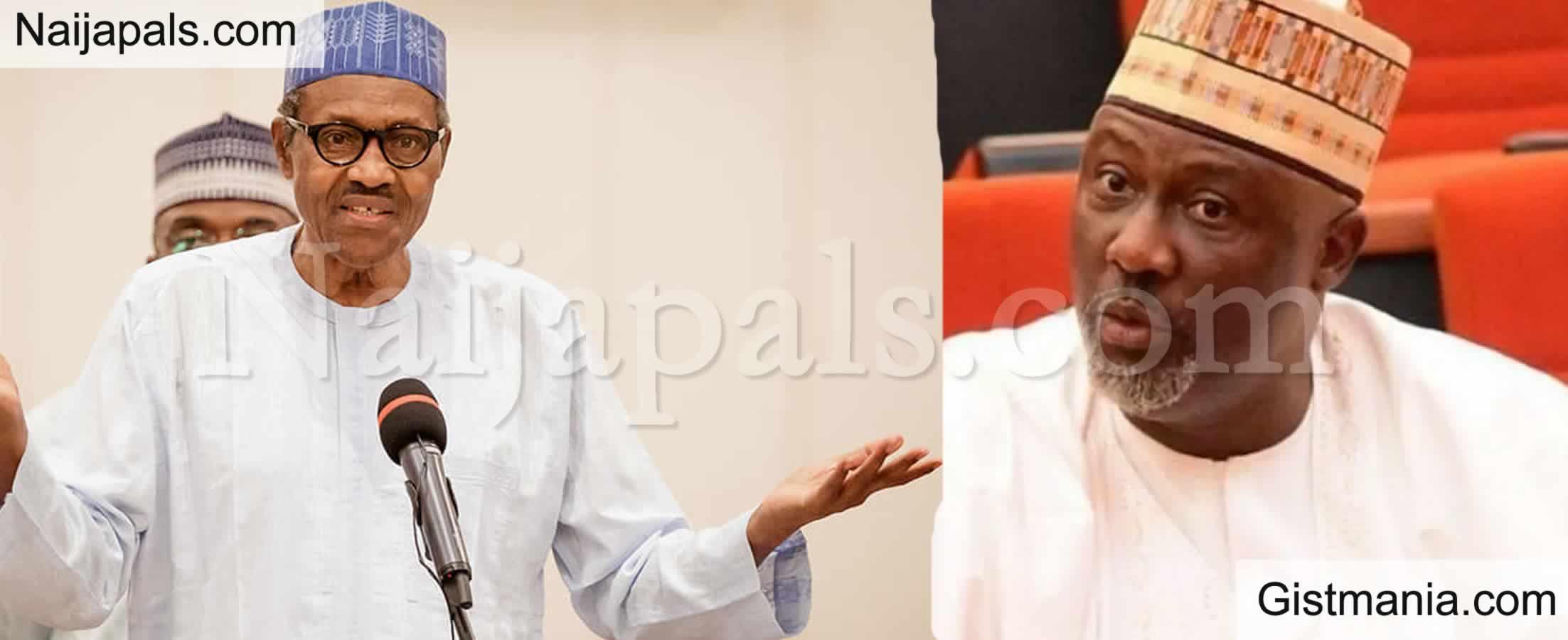 <img alt='.' class='lazyload' data-src='https://img.gistmania.com/emot/comment.gif' /> <b>Dino Melaye Trolls Buhari, Calls Him A School Cert Failure With Missing Certificate</b>