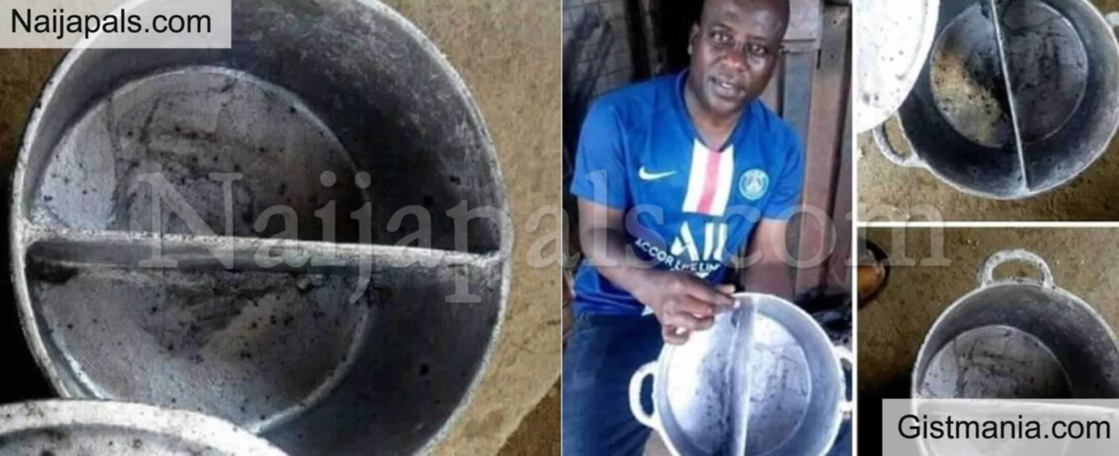 """<img alt='.' class='lazyload' data-src='https://img.gistmania.com/emot/thumbs_up.gif' /> <b>Man Invents """"Buhari Pot"""" That Can Cook Two Different Meals At The Same Time</b> (PHOTO)"""