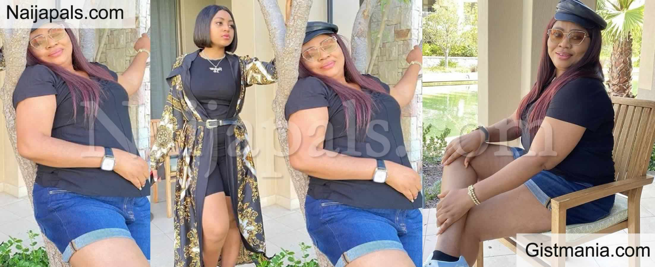 <img alt='.' class='lazyload' data-src='https://img.gistmania.com/emot/comment.gif' /> <b>Regina Daniels Mum, Rita Daniels Dragged Badly For Wearing Bum Short in Public</b> (Photo)