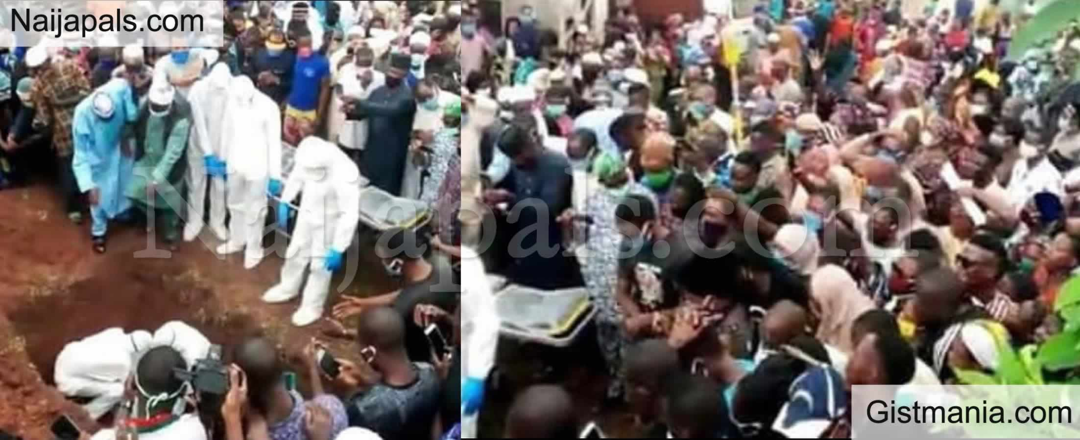 <img alt='.' class='lazyload' data-src='https://img.gistmania.com/emot/photo.png' /> <b>Social Distancing Rule Flouted At Burial Ceremony Of Ondo Commissioner Who Died From COVID-19</b>