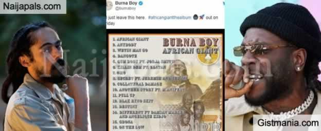 Fans React After Nigerian Singer, Burna Boy Features Bob