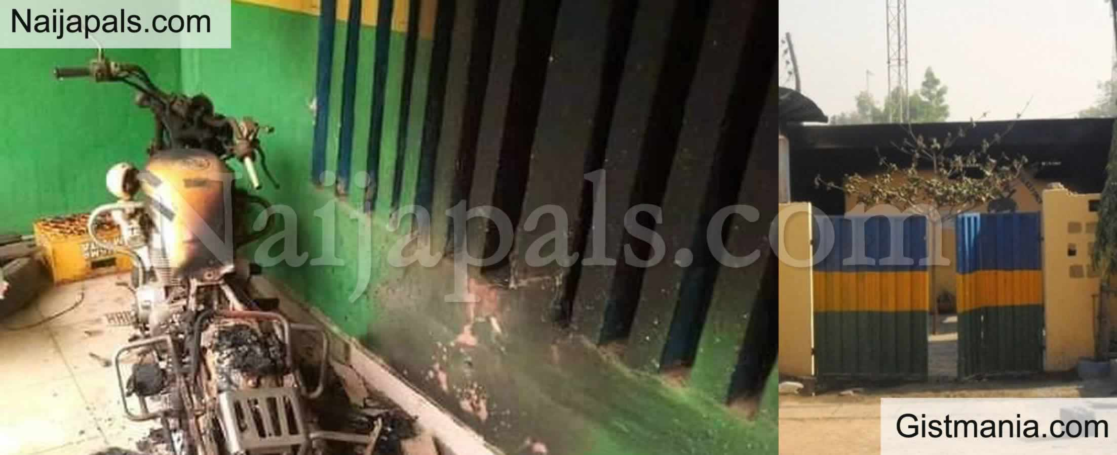<img alt='.' class='lazyload' data-src='https://img.gistmania.com/emot/news.gif' /> <b>Unknown Gunmen Attack Another Police Station in Abia, Set it Ablaze</b> (Photos)