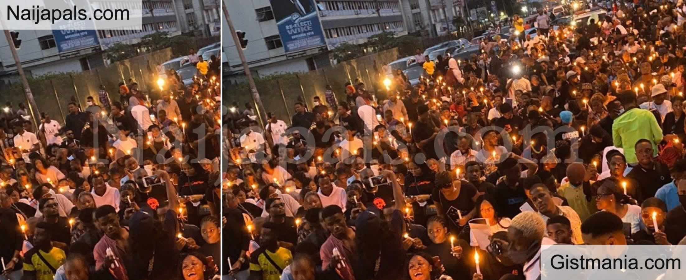 <img alt='.' class='lazyload' data-src='https://img.gistmania.com/emot/comment.gif' /> End SARS: <b>Port Harcourt Youths Hold Candlelight Procession</b>