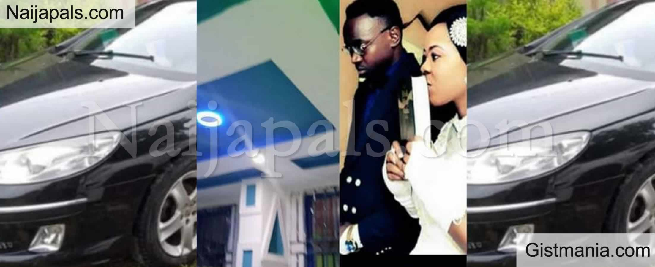 <img alt='.' class='lazyload' data-src='https://img.gistmania.com/emot/love.gif' /> <b>Nigerian Lady, Adigun Adekemi Suprises Husband With A House And Car </b>(Photos)