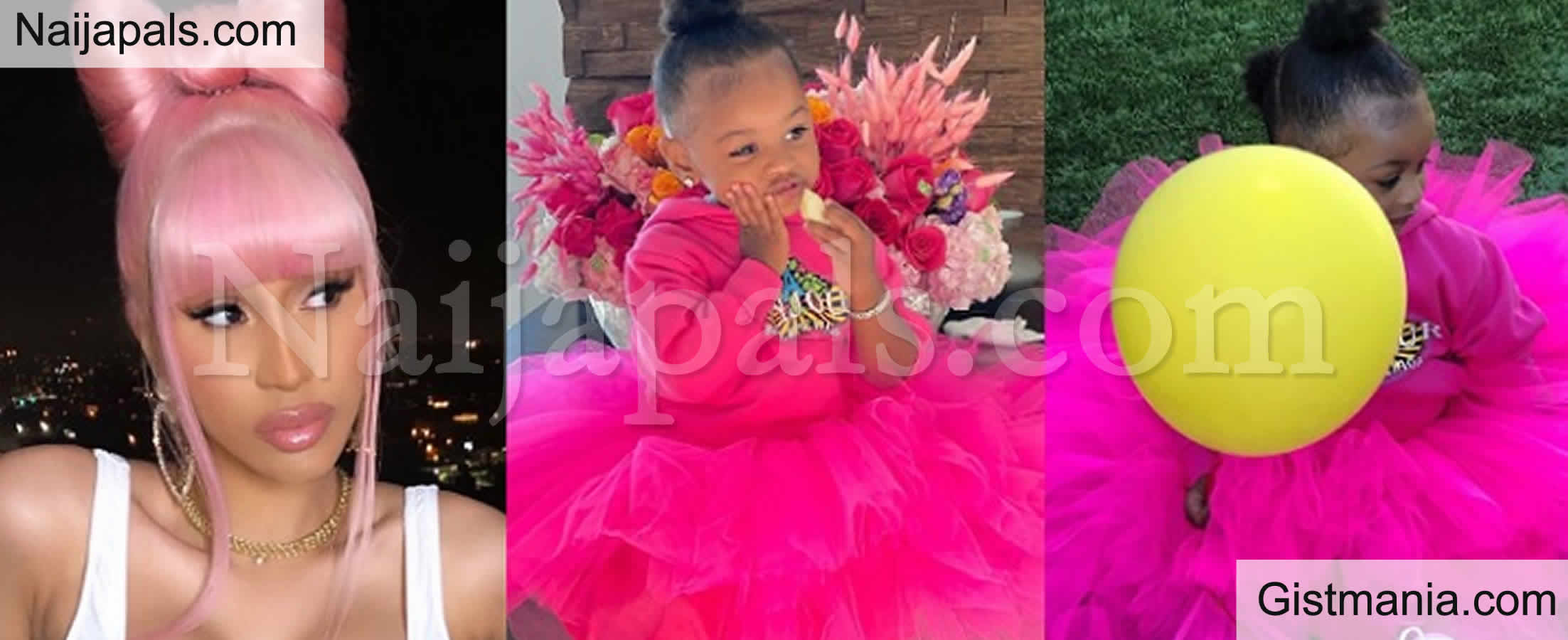 <img alt='.' class='lazyload' data-src='https://img.gistmania.com/emot/cake.png' /> PHOTOS/VIDEO: <b>American Rapper, Cardi B Celebrates Daughter As She Turns Two Today</b>