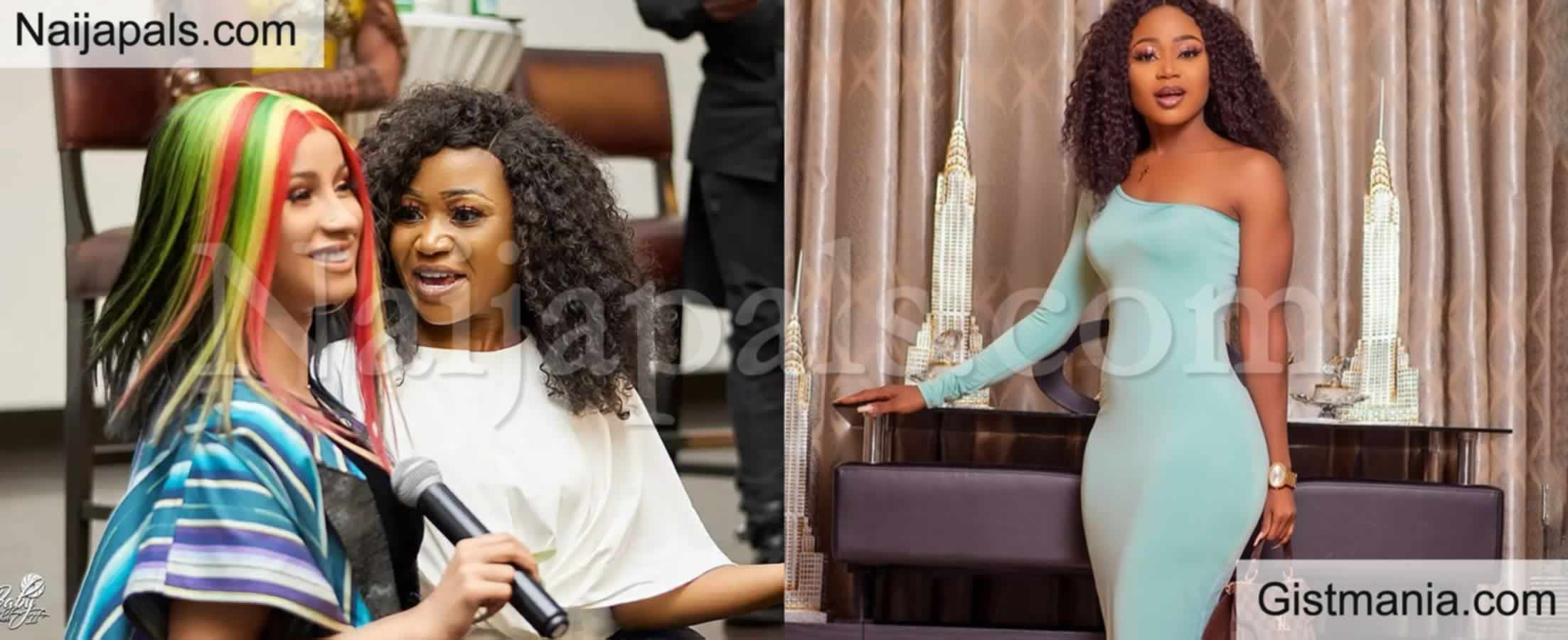 <img alt='.' class='lazyload' data-src='https://img.gistmania.com/emot/smh.gif' /> SMH! Ghanaian Actress<b> Akuapem Poloo, Shed Tears As Cardi B Viewed Her Instagram Stories</b>