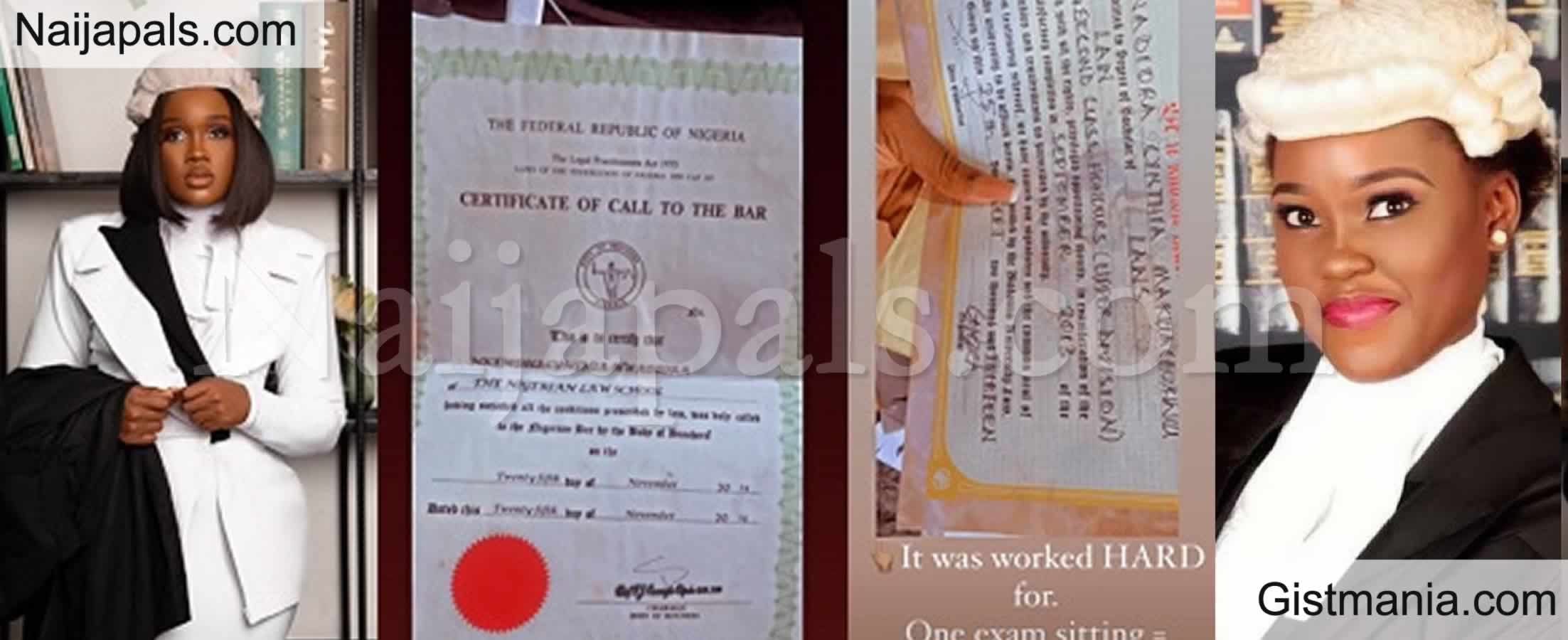 <img alt='.' class='lazyload' data-src='https://img.gistmania.com/emot/comment.gif' /> <b>CeeC Shares Photos of Her Law Certificates To Shut A Troll Who Accused Her of Buying Her Degree</b>
