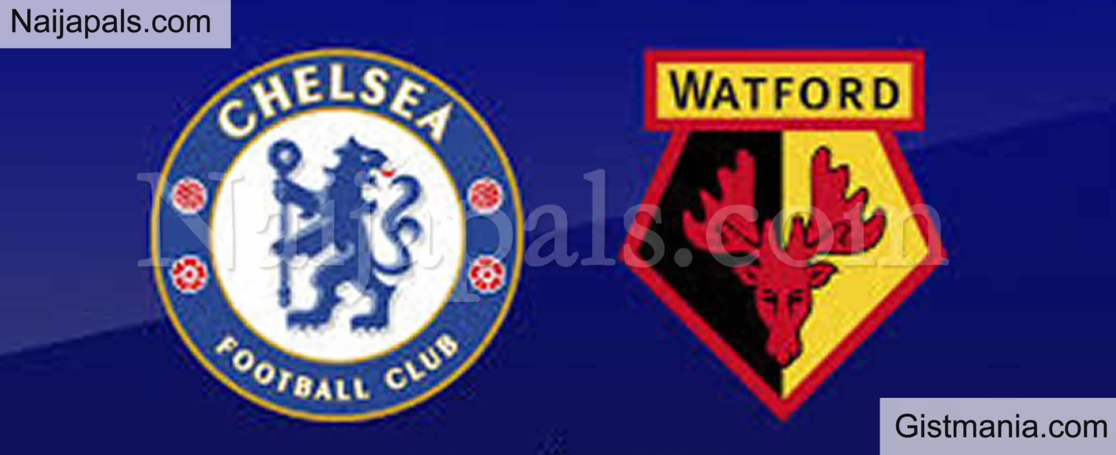 <img alt='.' class='lazyload' data-src='https://img.gistmania.com/emot/soccer.gif' /> HT!<b>Chelsea 2 v 0 Watford : English Premier League Match, Team News, Goal Scorers and Stats</b>